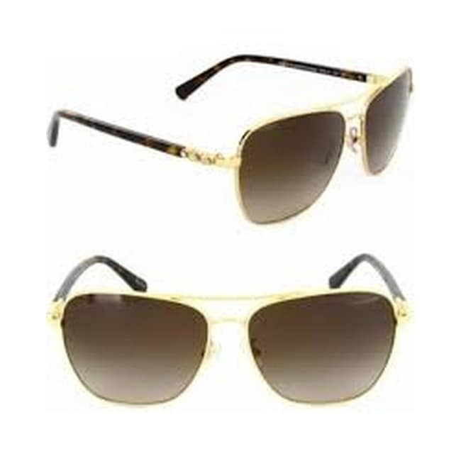 af5fe6f9da83 Shop Coach Women s HC7073B 930313 59 Dark Brown Gradient Plastic Aviator  Sunglasses - Free Shipping Today - Overstock - 17850539