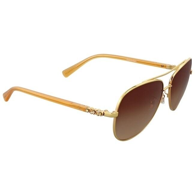 588d67c43307 Shop Coach Women s HC7072B 930513 59 Brown Gradient Plastic Aviator  Sunglasses - Free Shipping Today - Overstock - 17850595