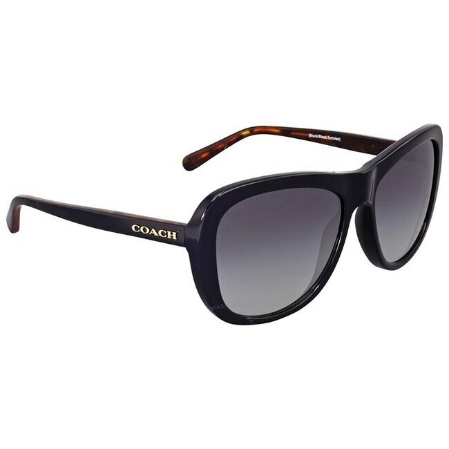 f6b673bd1c308 Shop Coach Women s HC8202 544211 57 Light Grey Gradient Plastic Square  Sunglasses - Free Shipping Today - Overstock - 17850705