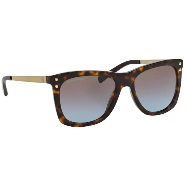 504dcdf9538 Shop Michael Kors Women s MK2046 310613 54 Brown Gradient Metal Square  Sunglasses - Free Shipping Today - Overstock.com - 17850813