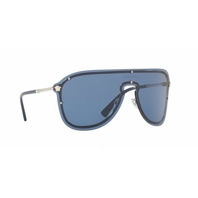 d466d07ef0 Shop Versace Women s VE2180 100080 44 Blue Plastic Aviator Sunglasses -  Free Shipping Today - Overstock - 17850897
