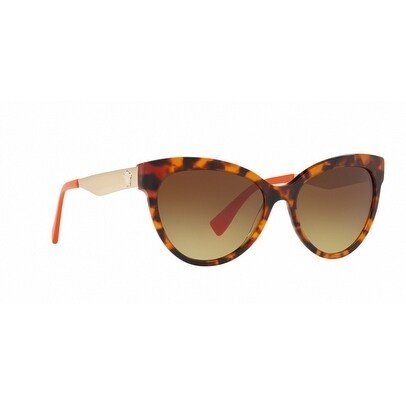 276918486cd Shop Versace Women s VE4338 524413 57 Brown Gradient Metal Cat Eye  Sunglasses - Free Shipping Today - Overstock - 17850915