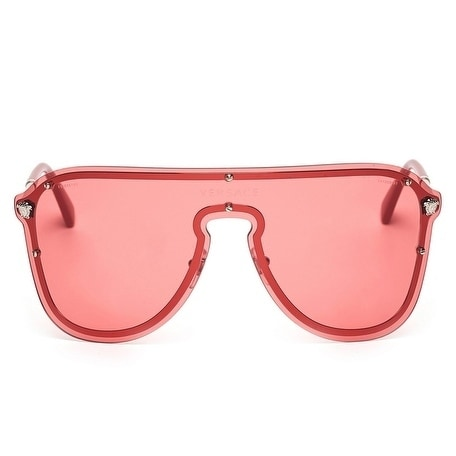 1bc7fa06cca Shop Versace Women s VE2180 100084 44 Pink Plastic Aviator Sunglasses -  Free Shipping Today - Overstock - 17850929