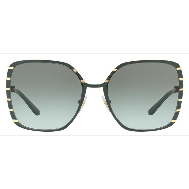 fc57d70fe19a Shop Tory Burch TY6055 Womens Green Frame Green Lens Square Sunglasses - Free  Shipping Today - Overstock - 17850985