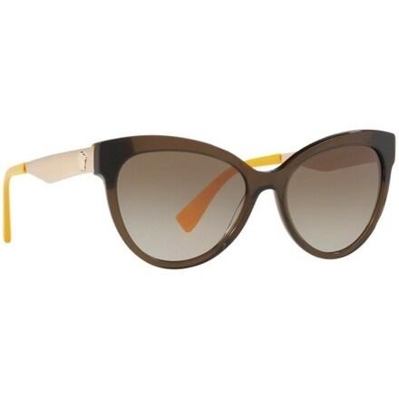 b7c0280060522 Shop Versace Women s VE4338 524613 57 Brown Gradient Metal Cat Eye  Sunglasses - Free Shipping Today - Overstock - 17851160