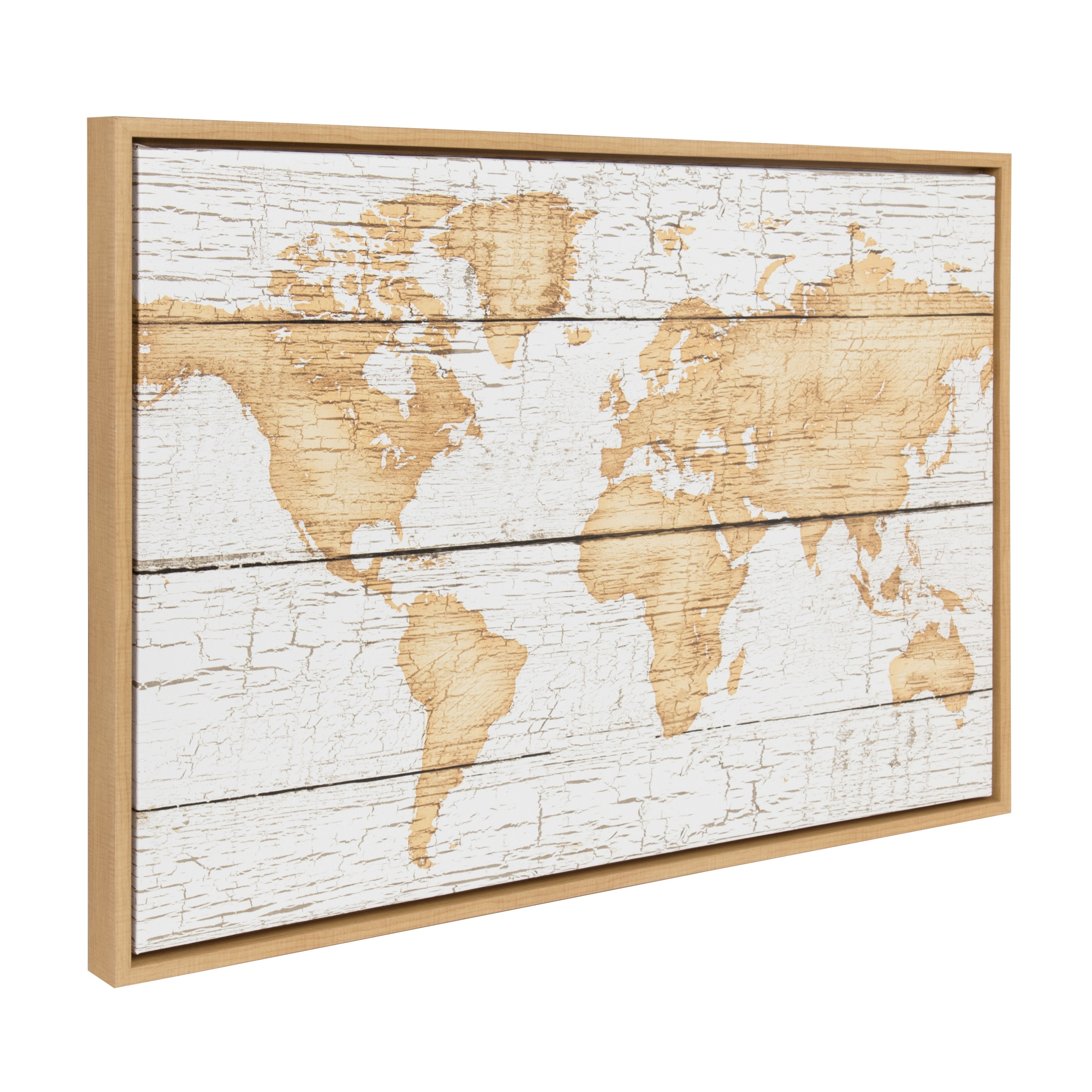 sylvie rustic world map 23x33 natural framed canvas wall art free shipping today overstock 24042587