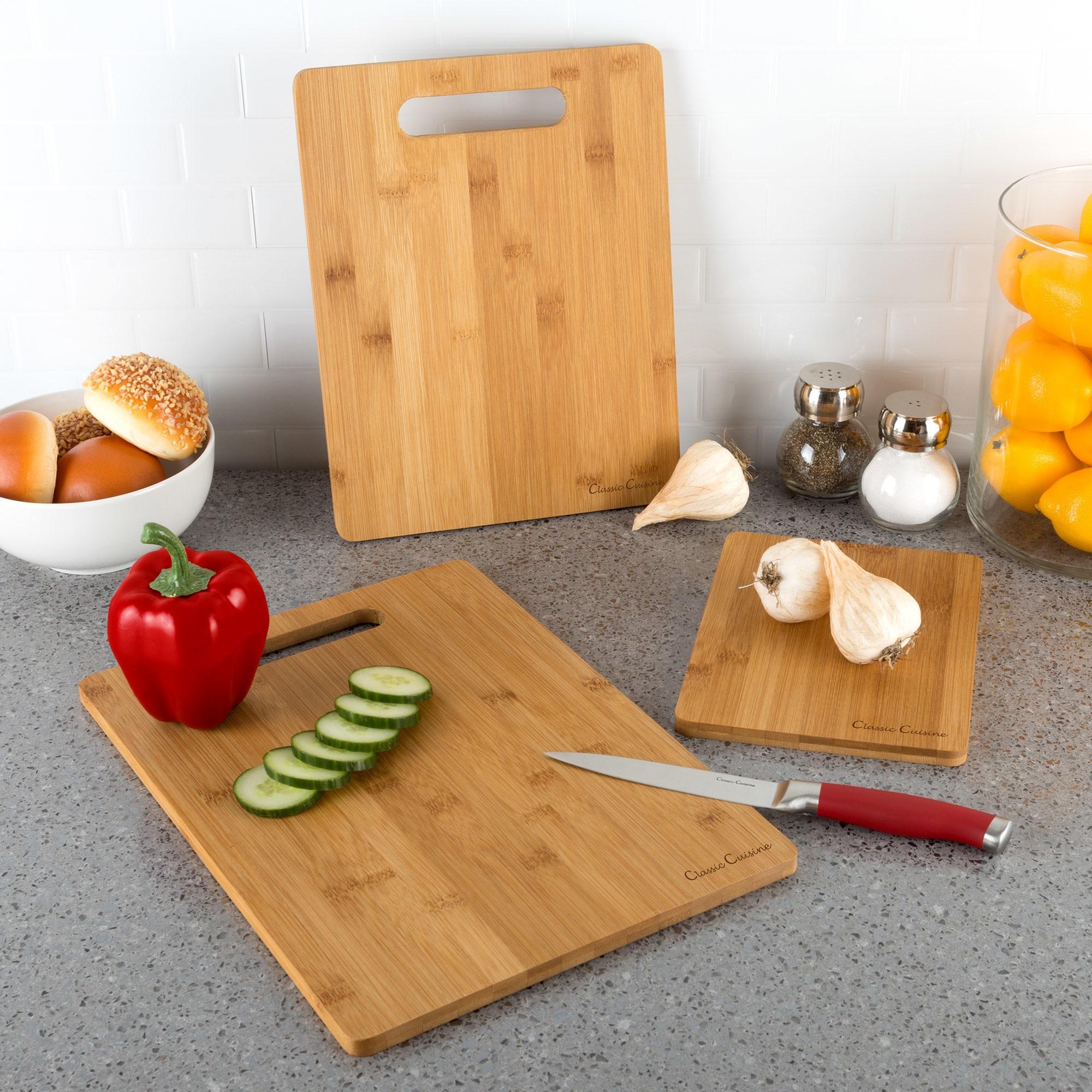 Shop Classic Cuisine 3 Piece Bamboo Cutting Board Set Free