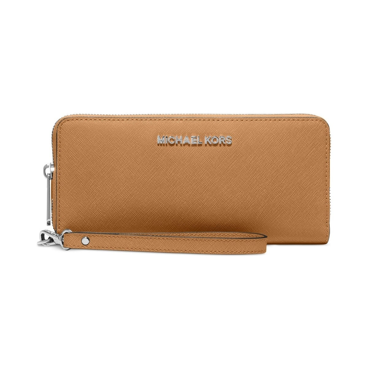 21a3ca93763a Shop MICHAEL KORS Jet Set Travel Continental Saffiano Wallet ACORN - On Sale  - Free Shipping Today - Overstock - 17859502