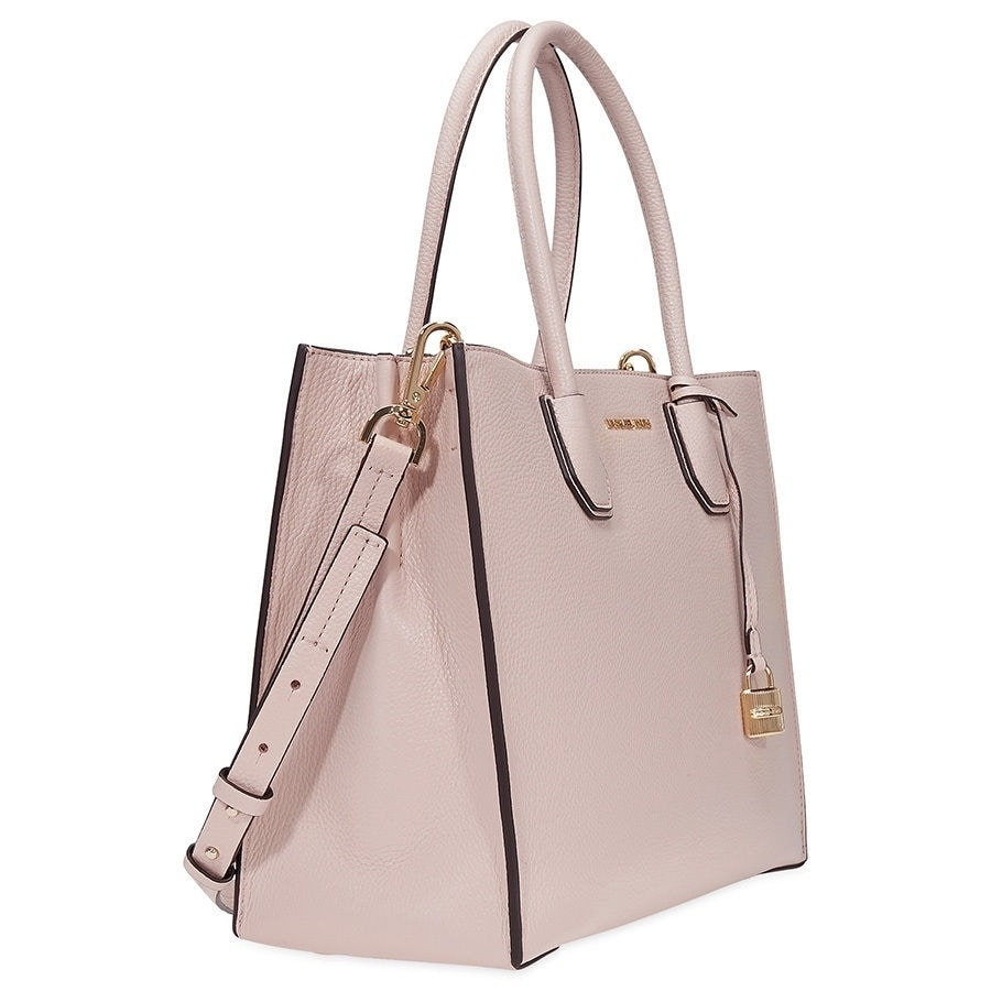 a13777409c68 Shop MICHAEL Michael Kors Mercer Lg Conv Tote soft pink - Free Shipping  Today - Overstock - 17876382