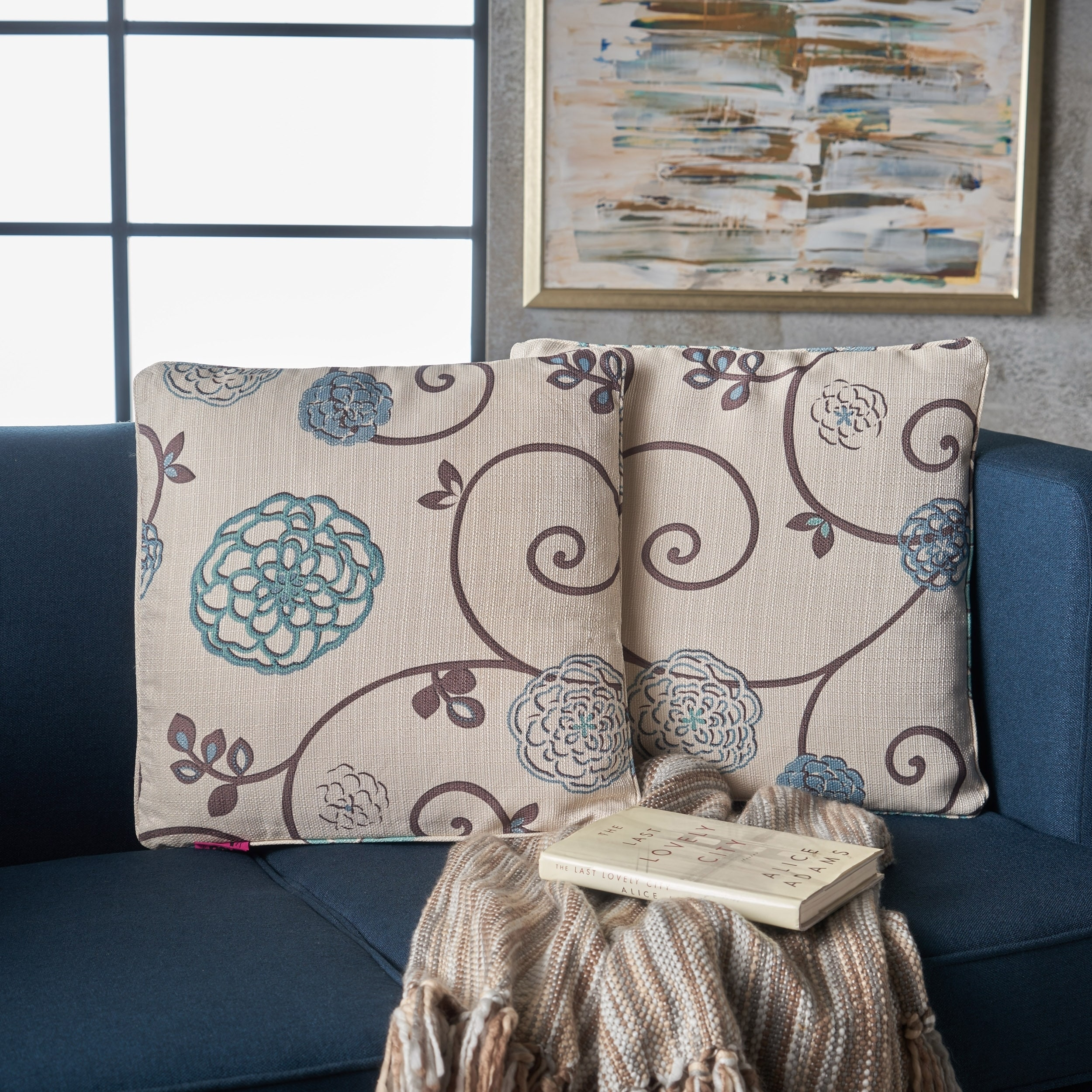 Genial Shop Ippolito Floral Fabric Pillows (Set Of 2) By Christopher Knight Home    Free Shipping On Orders Over $45   Overstock.com   17878755