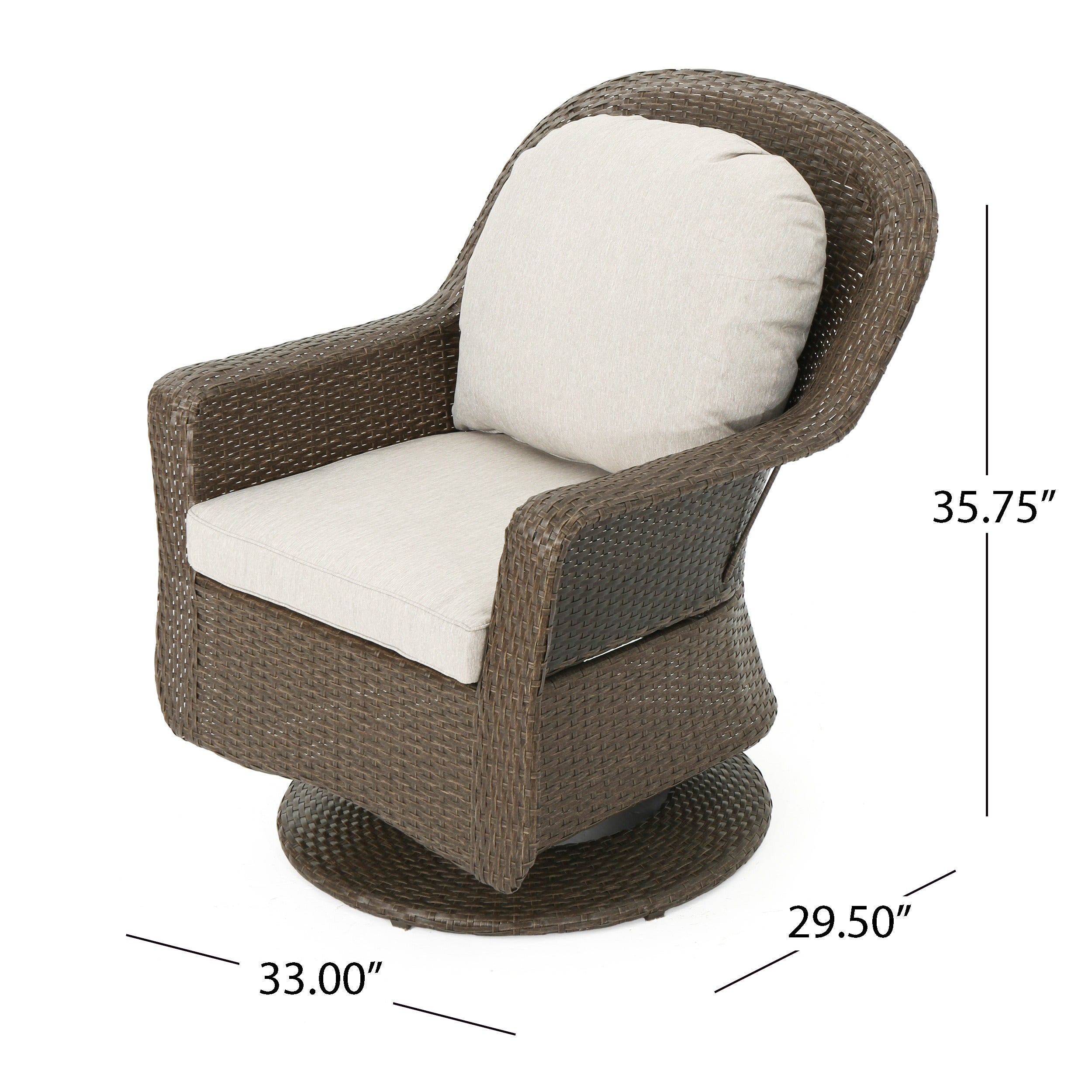 Shop Liam Outdoor Wicker Swivel Club Chair With Cushion (Set Of 2) By  Christopher Knight Home   On Sale   Free Shipping Today   Overstock.com    17904317