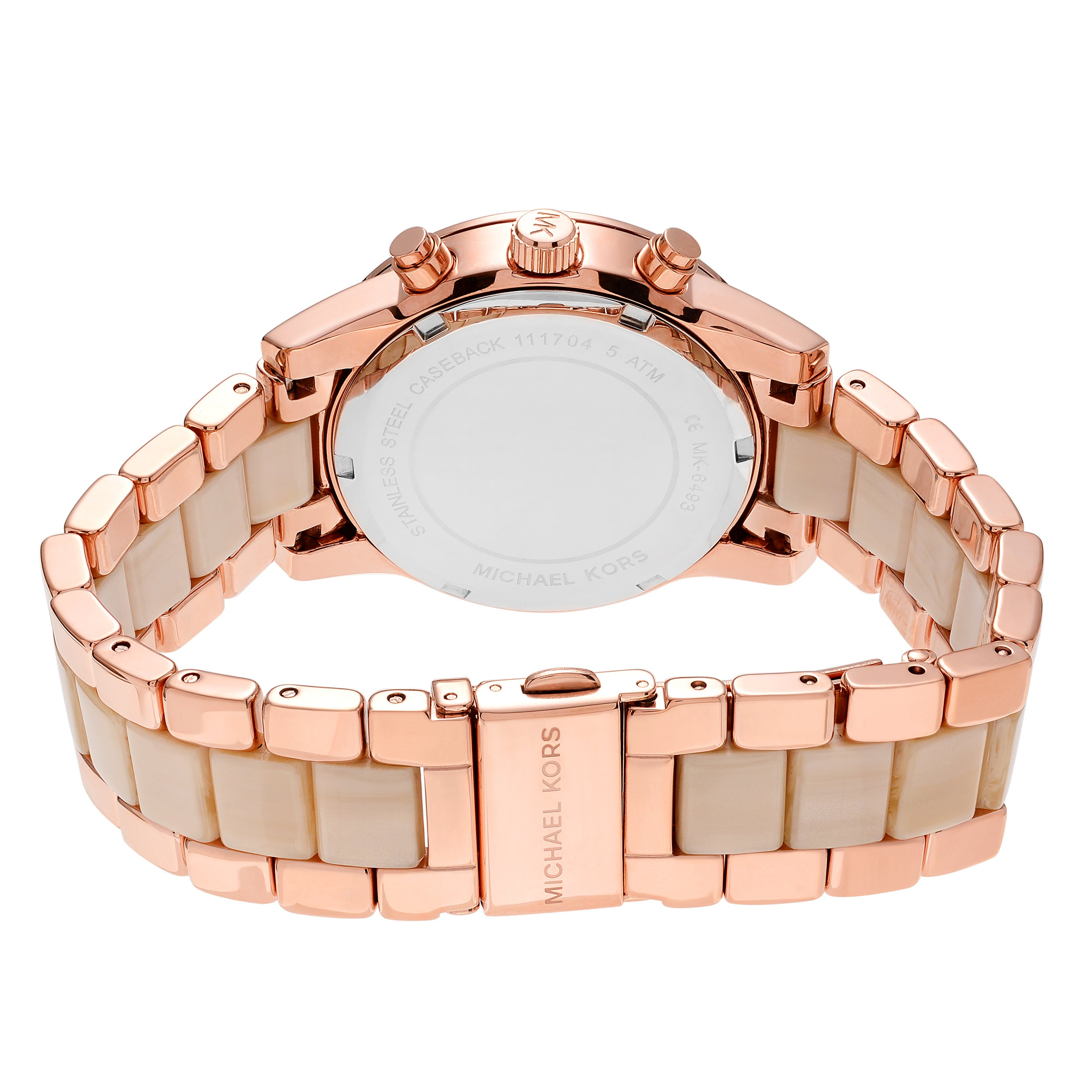502bf7f78b56 Shop Michael Kors Women s MK6493  Ritz  Rose Goldtone Crystal Pave  Chronograph Bracelet Watch - Free Shipping Today - Overstock - 17908232