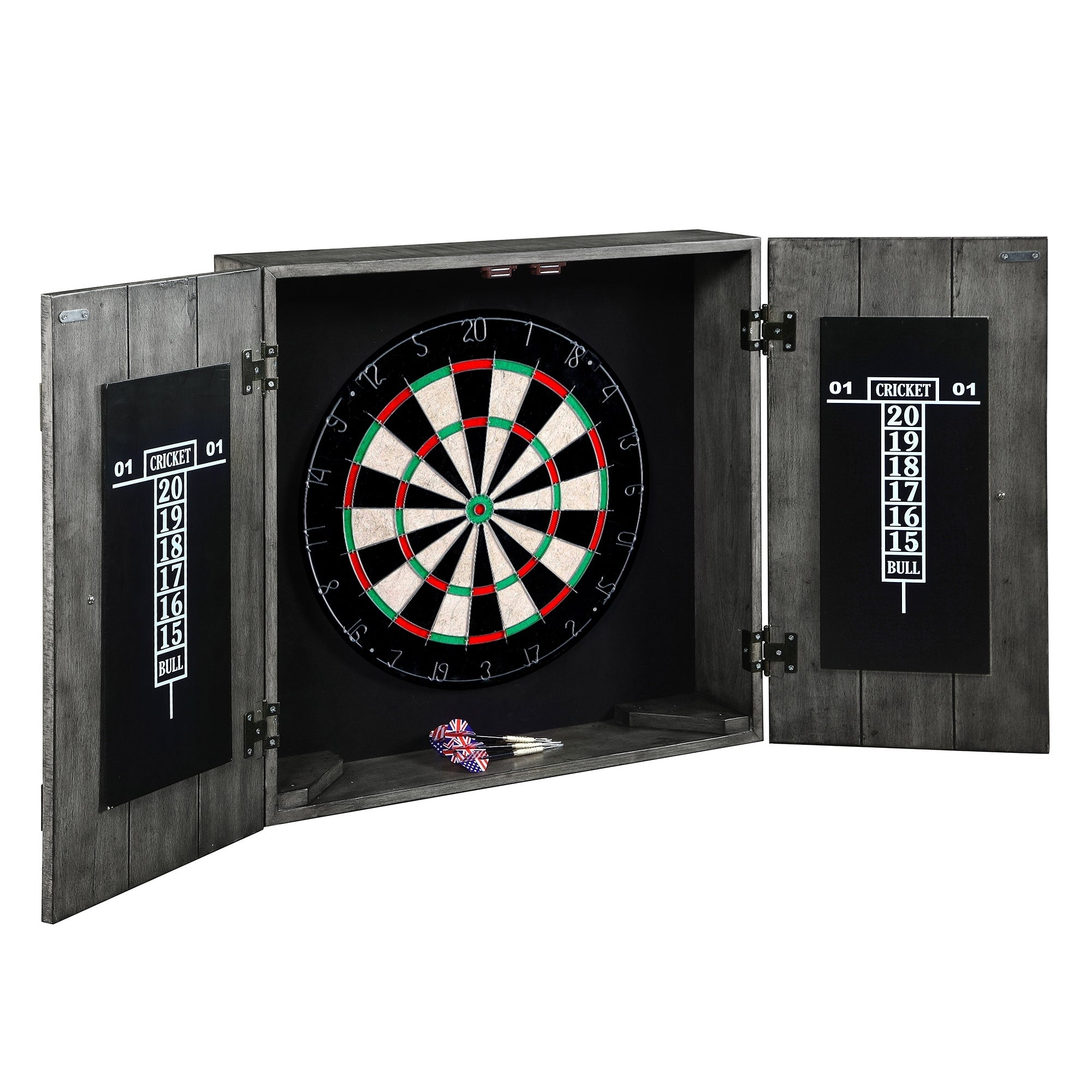 Drifter Solid Wood Dartboard Cabinet Set White Free Shipping Today 17909766