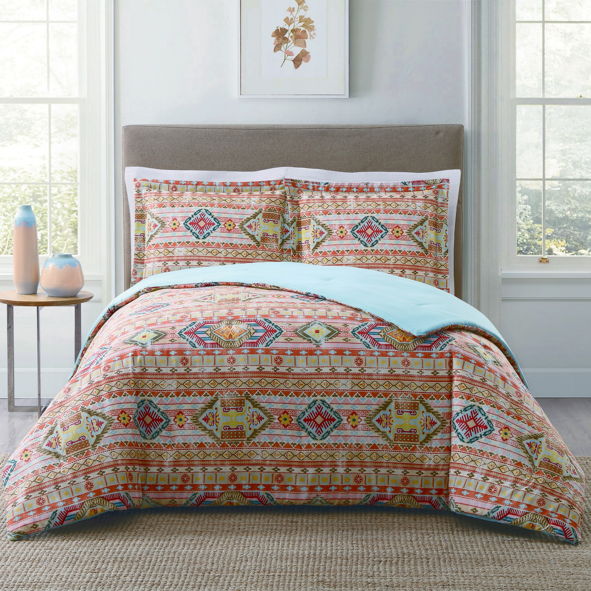 print feathers bed duvet aztec cover set plain wayfair background and arrows bath pdp with tribal ca ambesonne geometric style