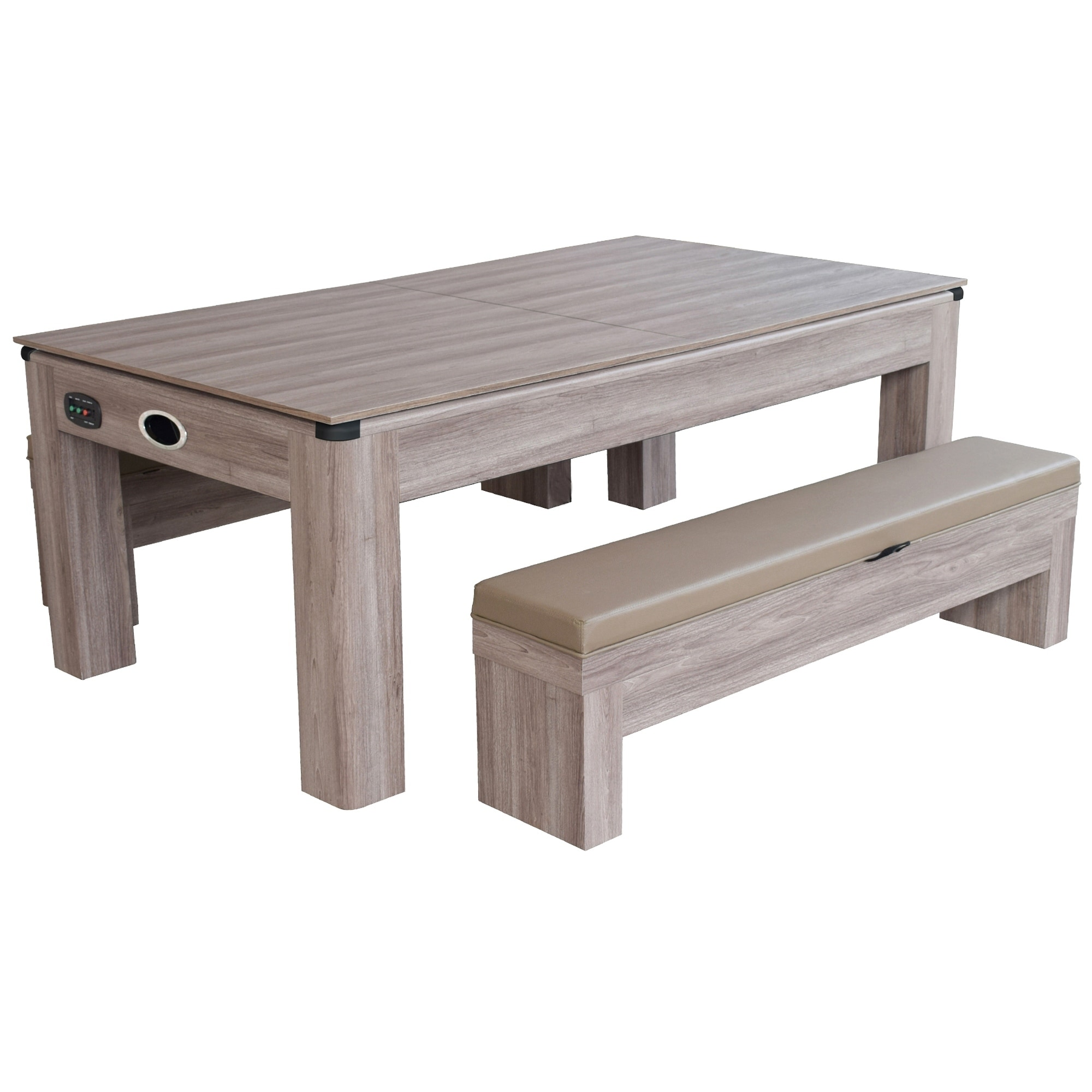 Shop Driftwood 7 Ft Combo Game Table Set W/Benches   Free Shipping Today    Overstock.com   17910208