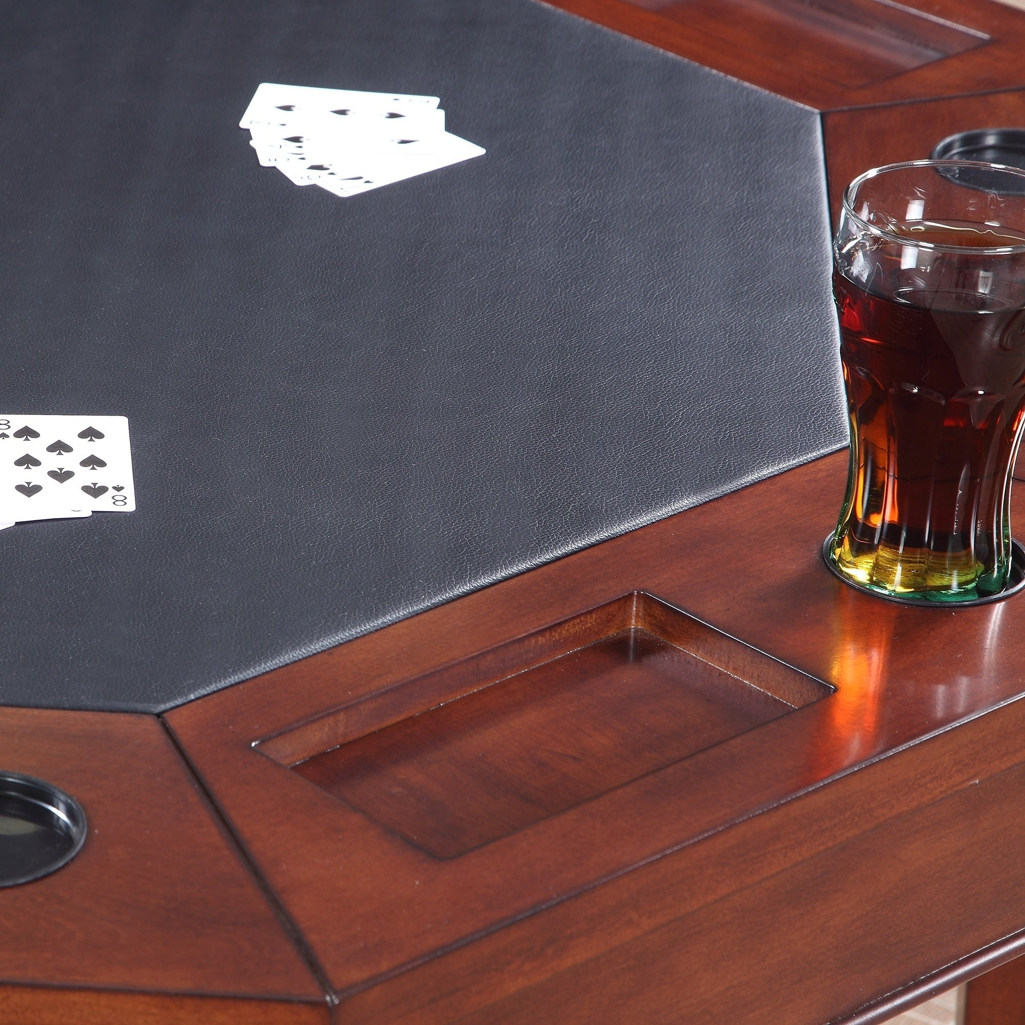 Hathaway Broadway 48-in Folding Poker Table u0026 Chairs Set - Free Shipping Today - Overstock - 24093293 & Hathaway Broadway 48-in Folding Poker Table u0026 Chairs Set - Free ...