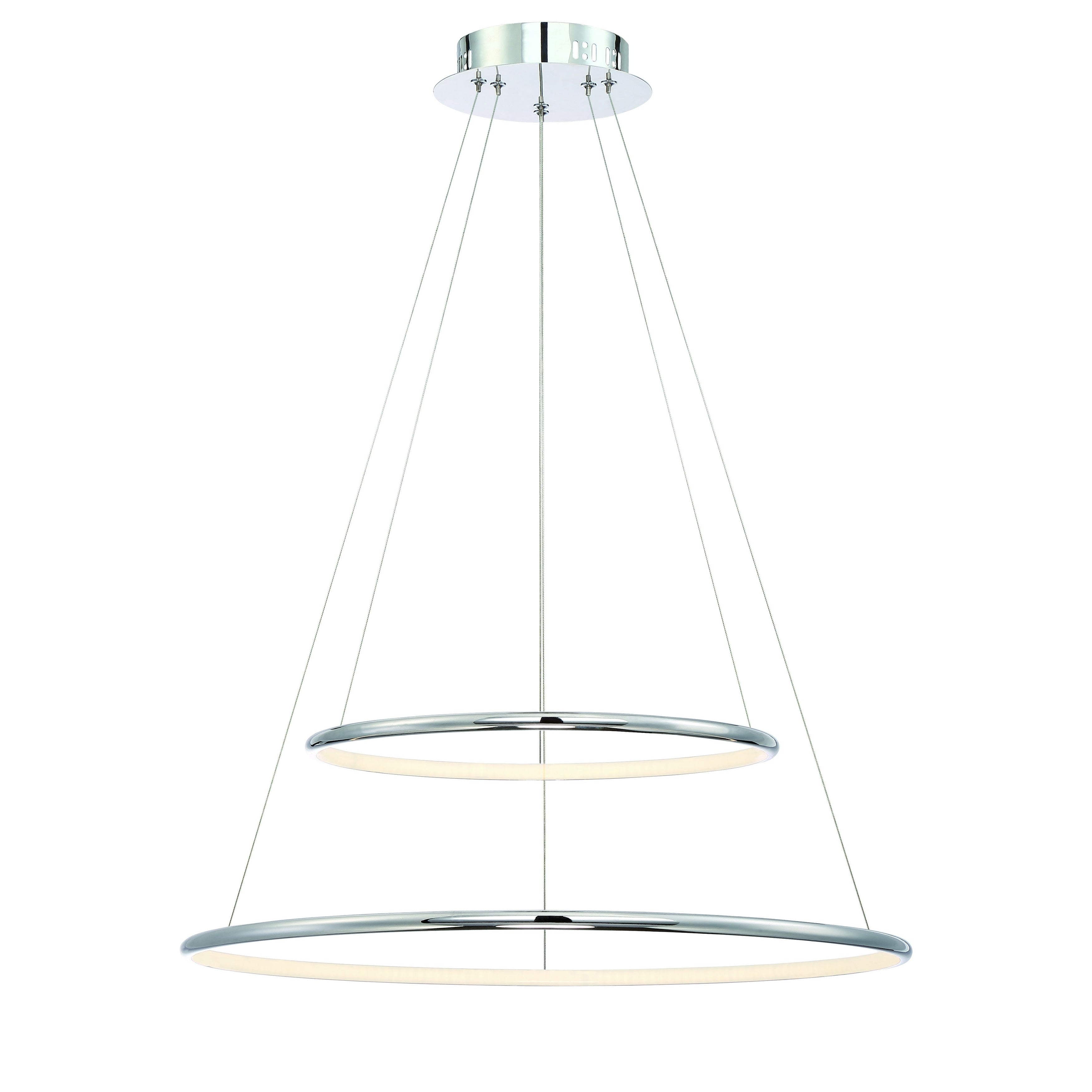 Shop eurofase valley contemporary led two tier ring light pendant shop eurofase valley contemporary led two tier ring light pendant carved polished chrome finish 235 inches in diameter 31856 010 free shipping today aloadofball Image collections