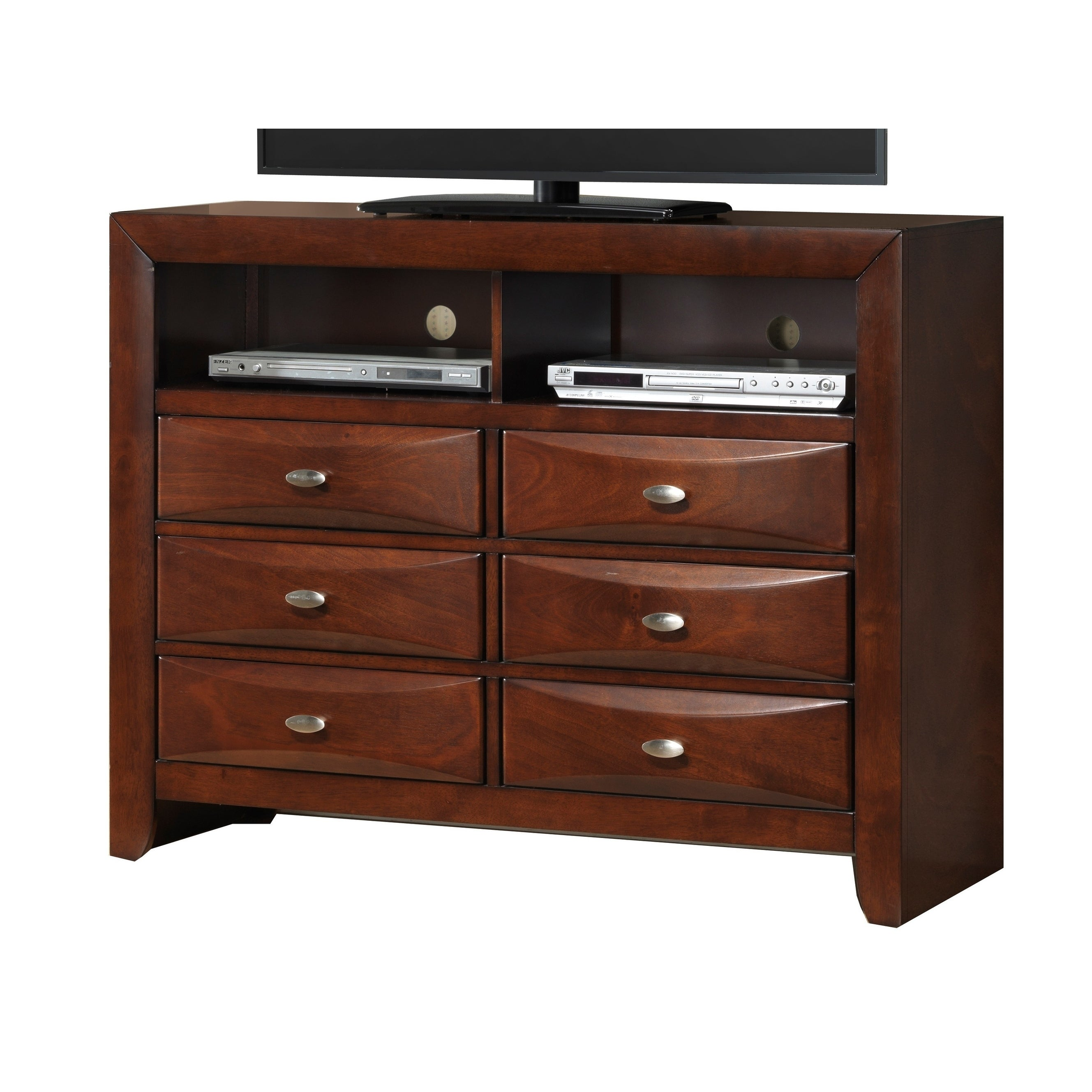 Shop blemerey fully assembled tv chest cherry wood finish free shipping today overstock com 17925561
