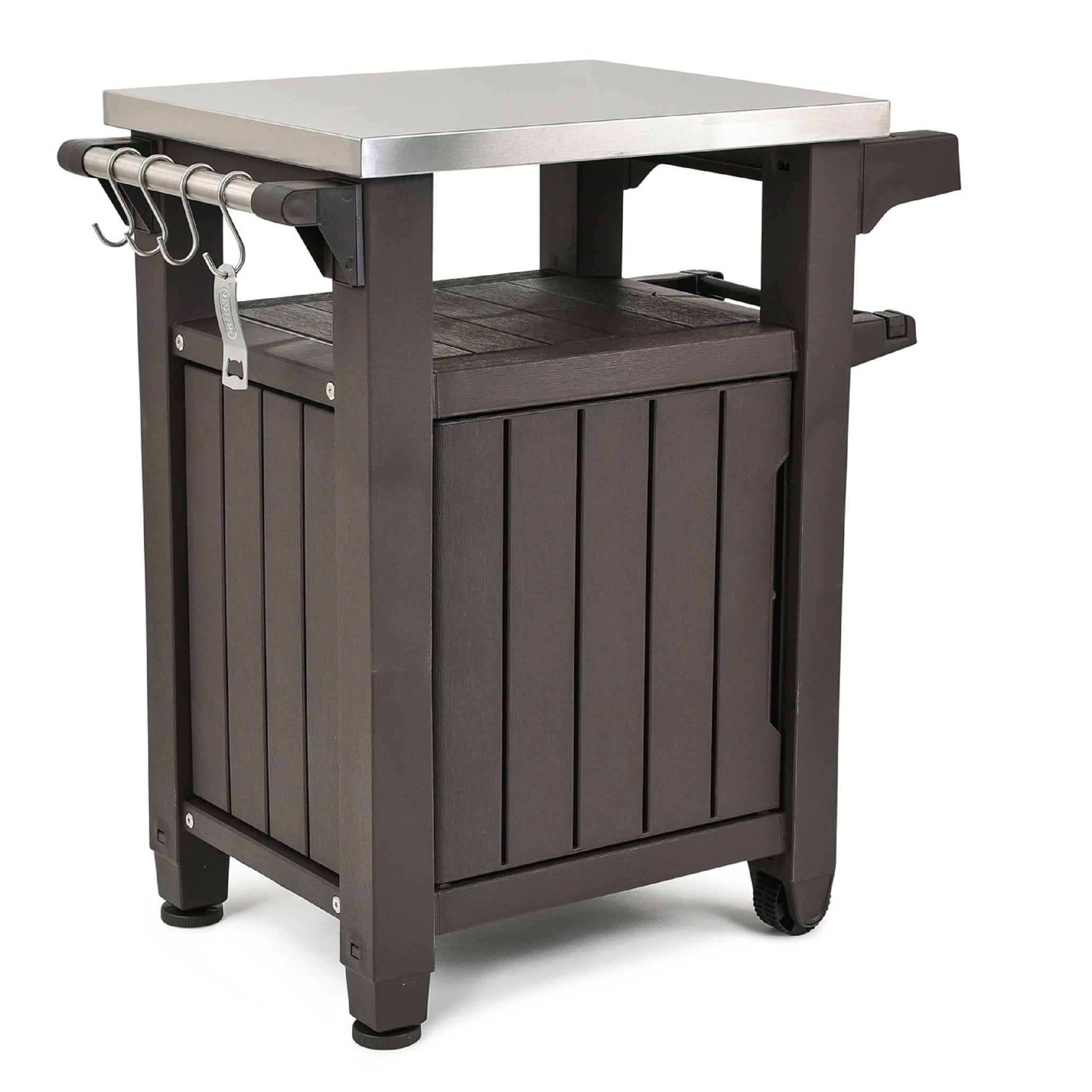 Shop keter unity indoor outdoor serving cart prep station with storage free shipping today overstock com 17925661