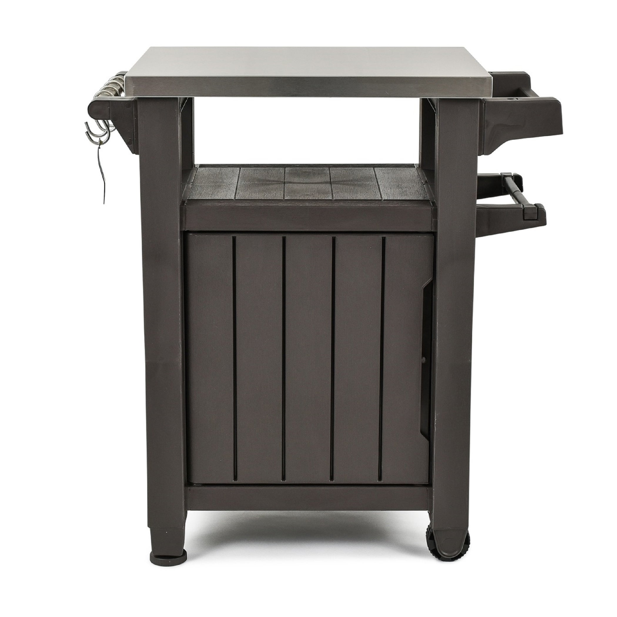 Shop Keter Unity Indoor Outdoor Serving Cart Prep Station With