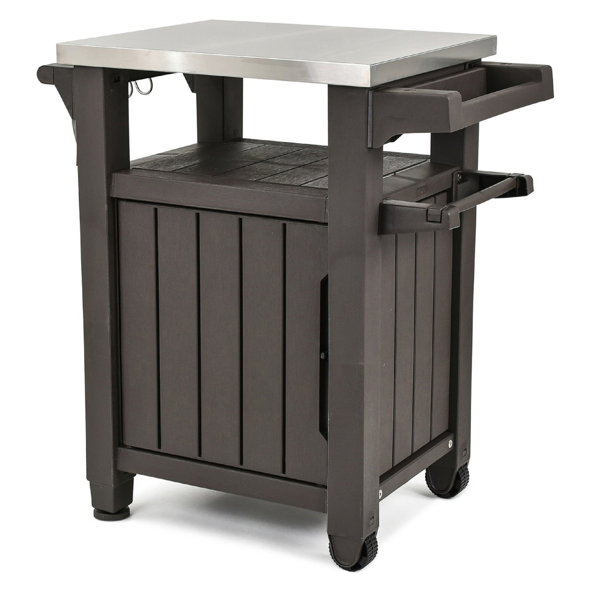 Shop Keter Unity Indoor Outdoor Serving Cart Prep Station With Storage    Free Shipping Today   Overstock.com   17925661