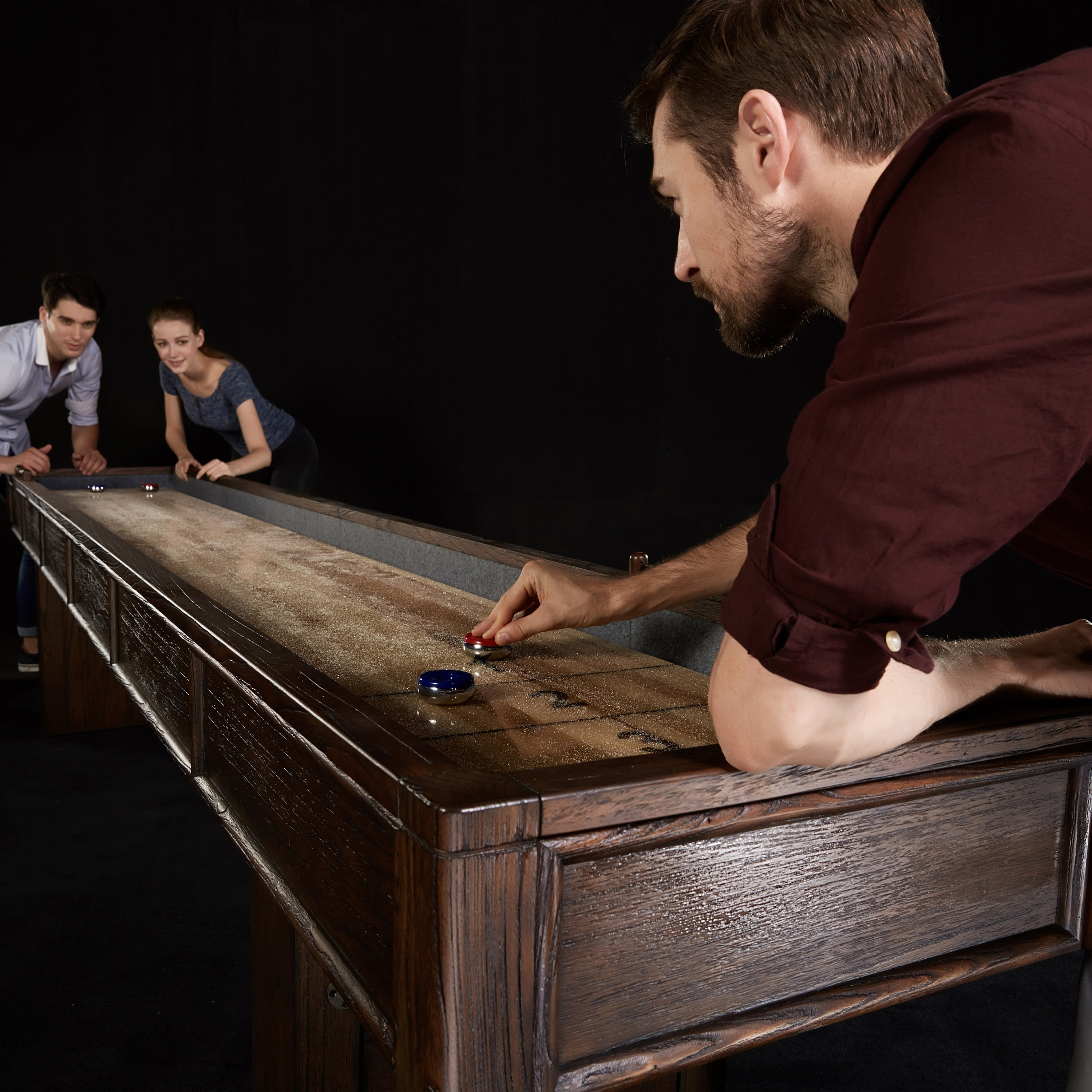 rustic farmhouse table product the industrial shuffleboard