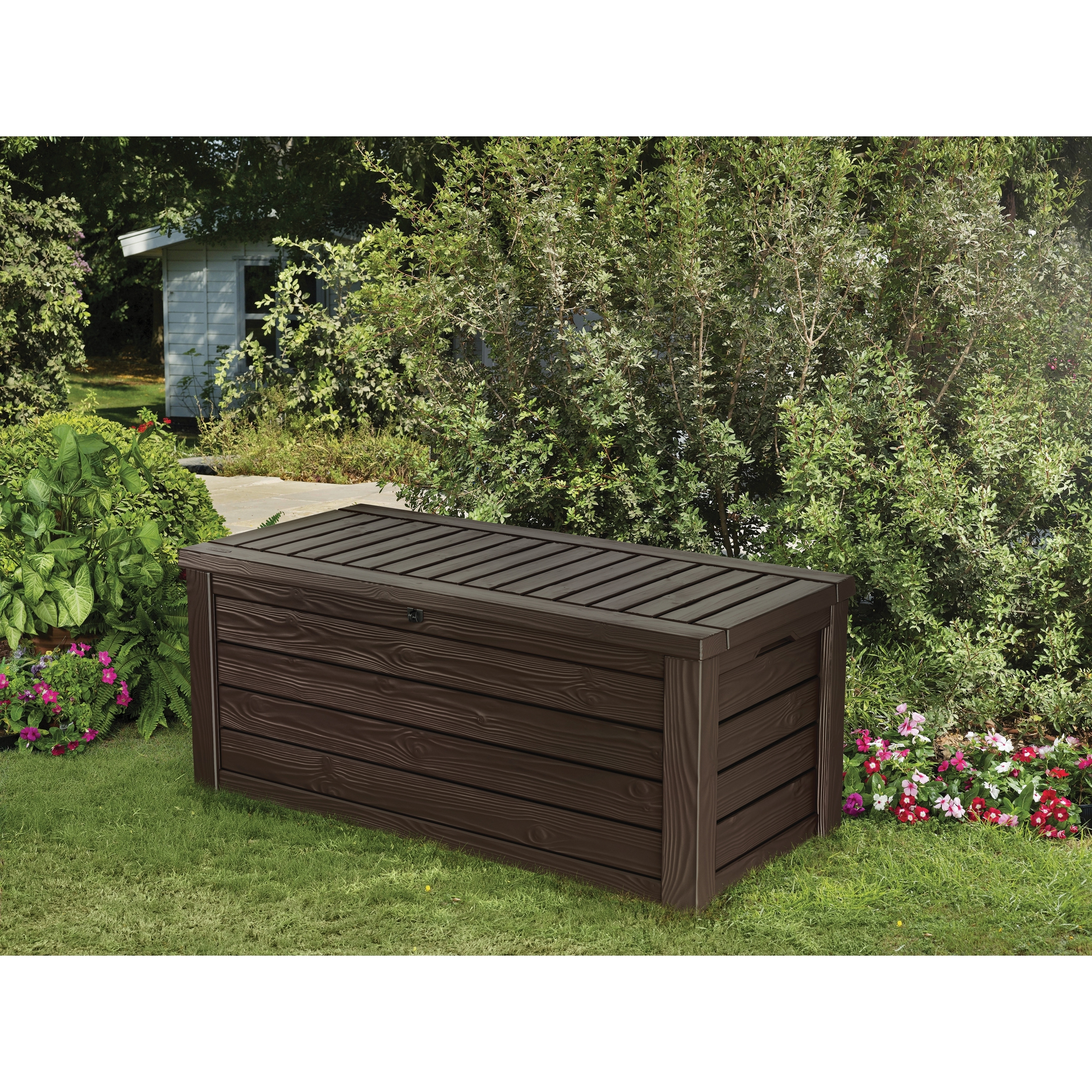 Keter Westwood 150 Gallon Deck Box Brown Free Shipping Today