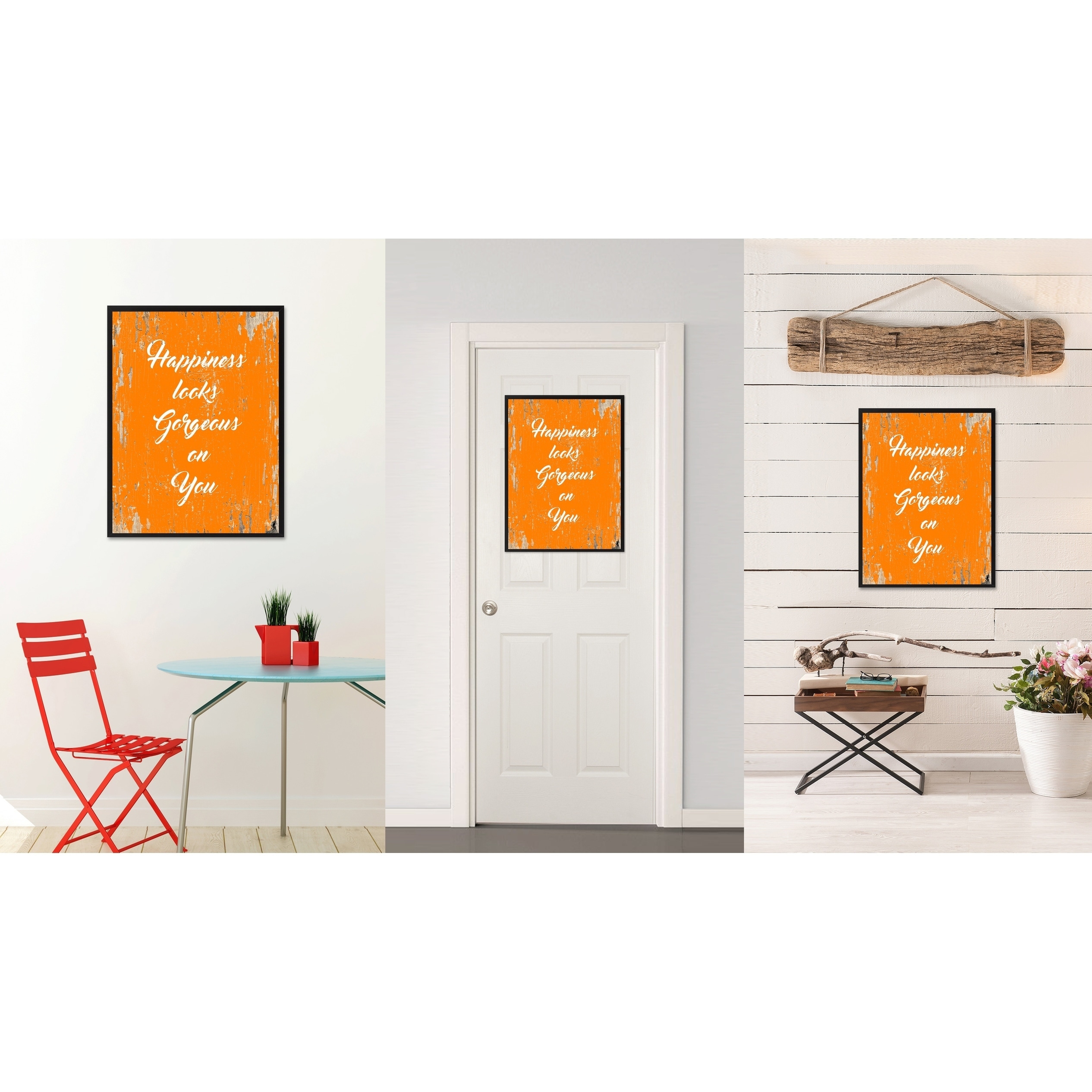 shop happiness looks gorgeous on you saying canvas print picture