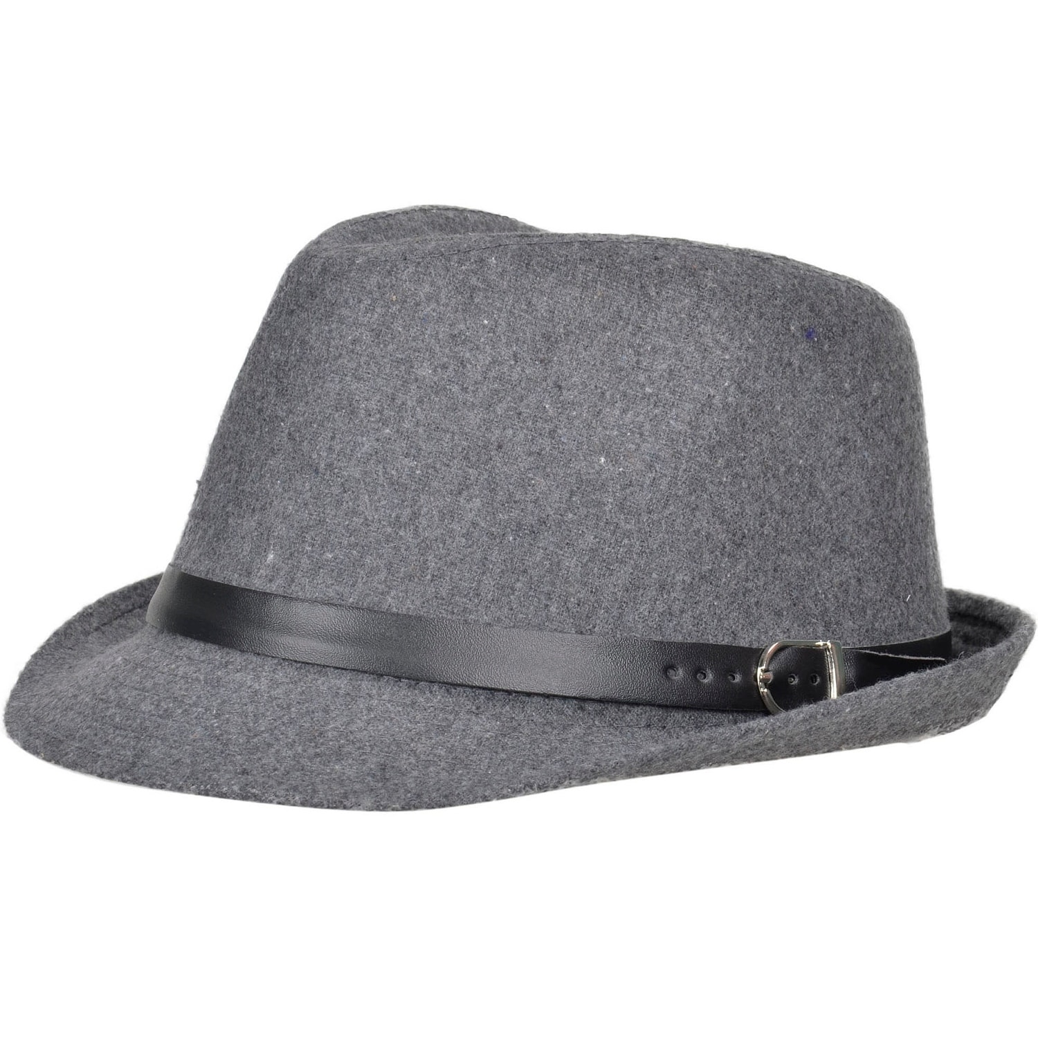 5d007d4b3 Unisex Structured Gangster Trilby Wool Fedora Hat