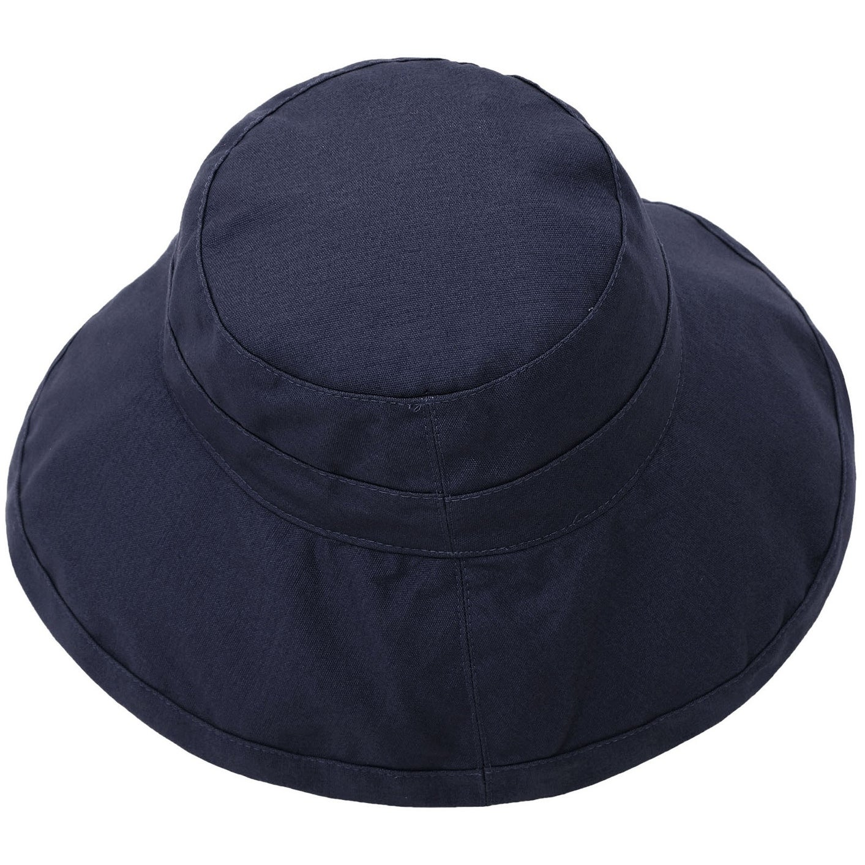 Women s Foldable Cotton Wide Brim Bucket Hat with Sun Protection 650e8dbb65