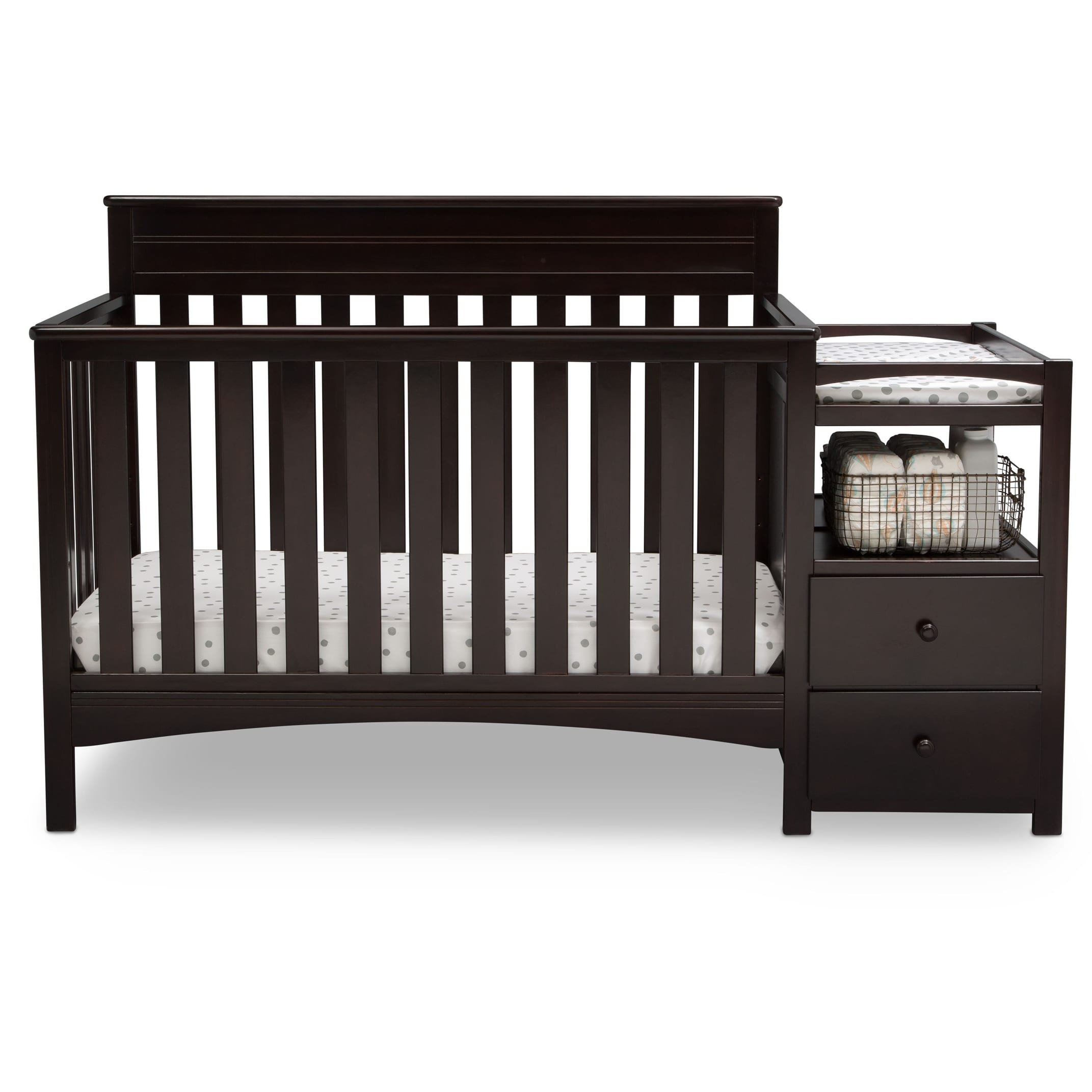 wood dream garden grey charlotte home product crib in cribs on overstock convertible shipping me free today