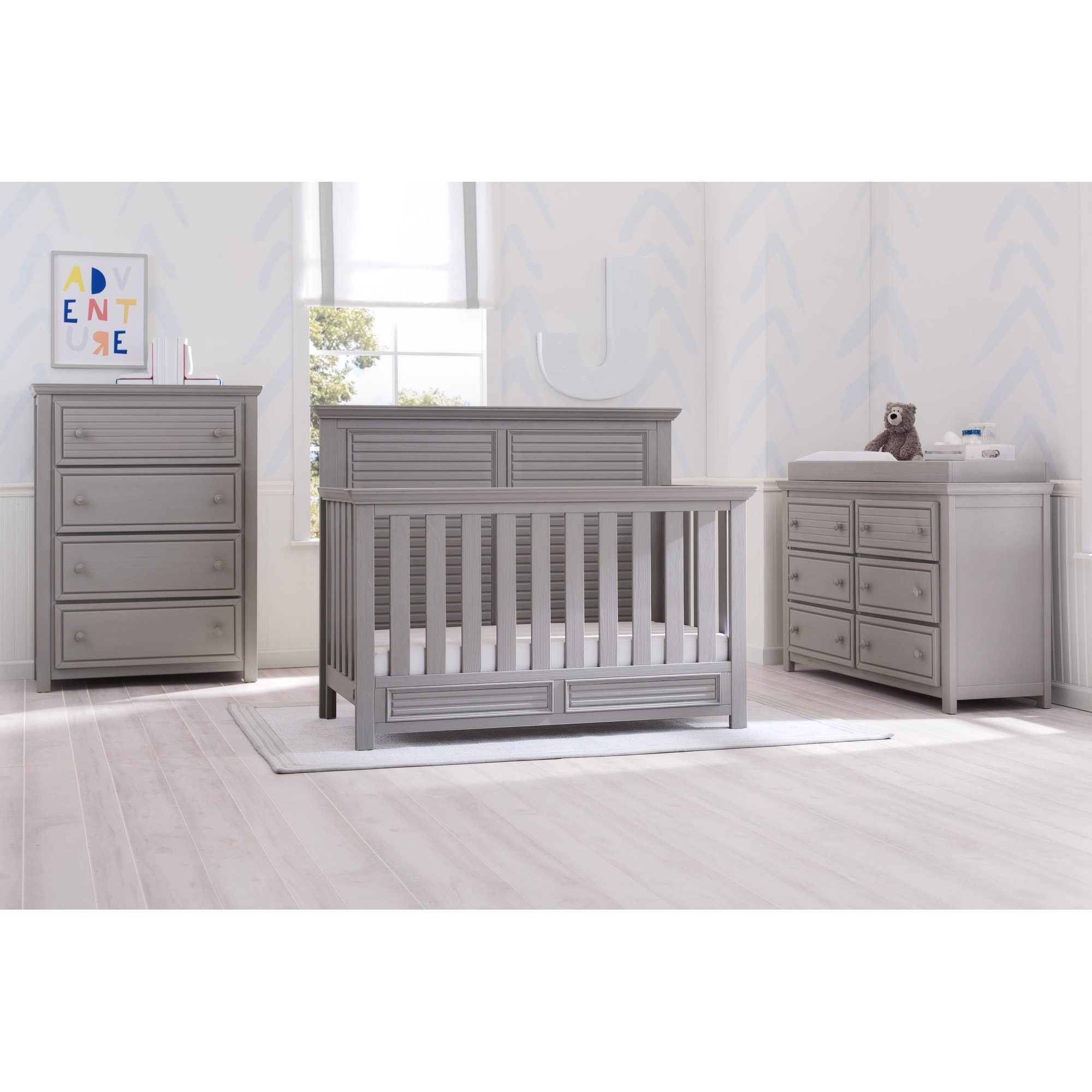 simmons nursery furniture. Simmons Kids Oakmont Convertible Crib N More, Rustic Bianca - Free Shipping Today Overstock 24111256 Nursery Furniture U