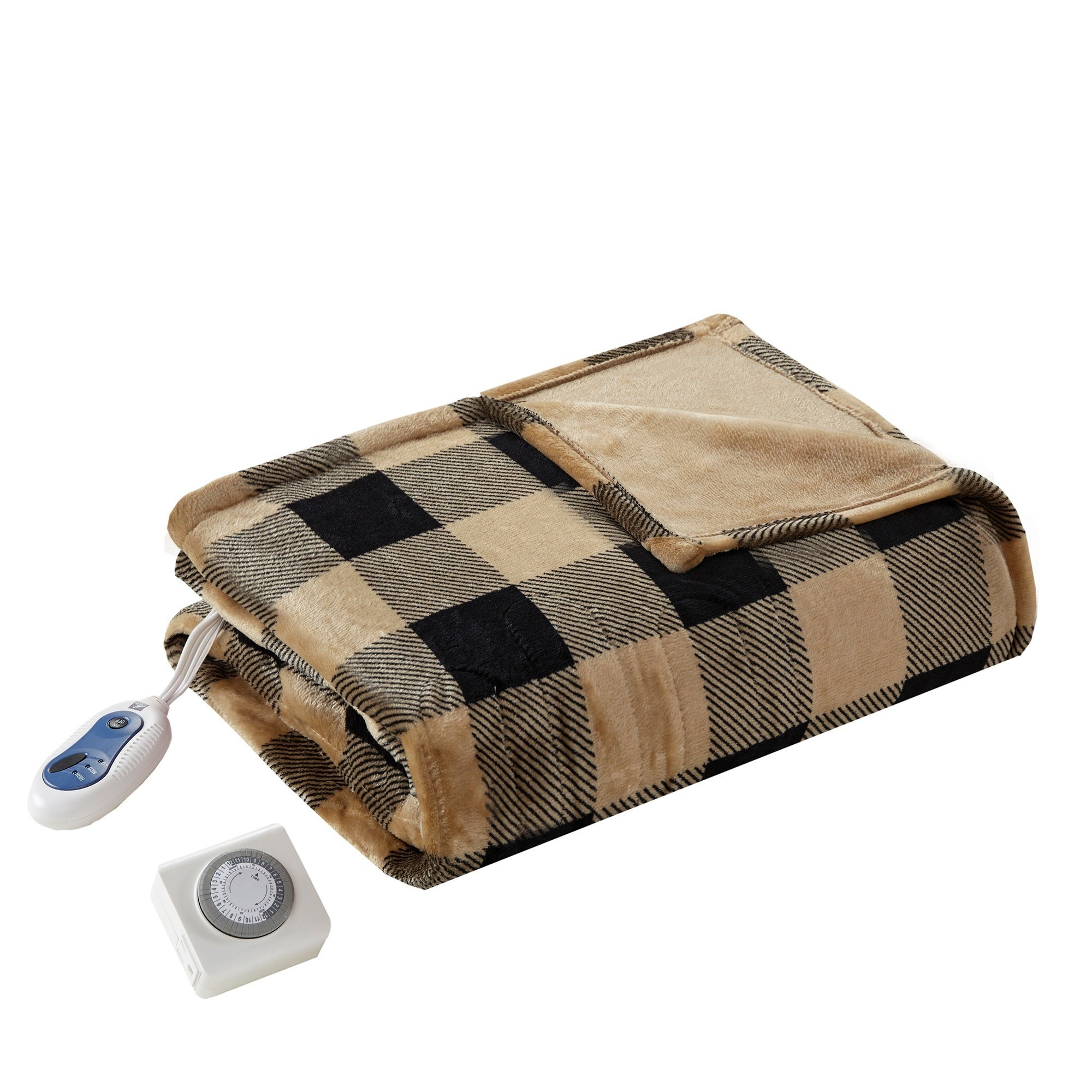 9b0ca000c8 Shop True North by Sleep Philosophy Buffalo Check Oversized Printed Heated Plush  Throw - Free Shipping Today - Overstock - 17931677