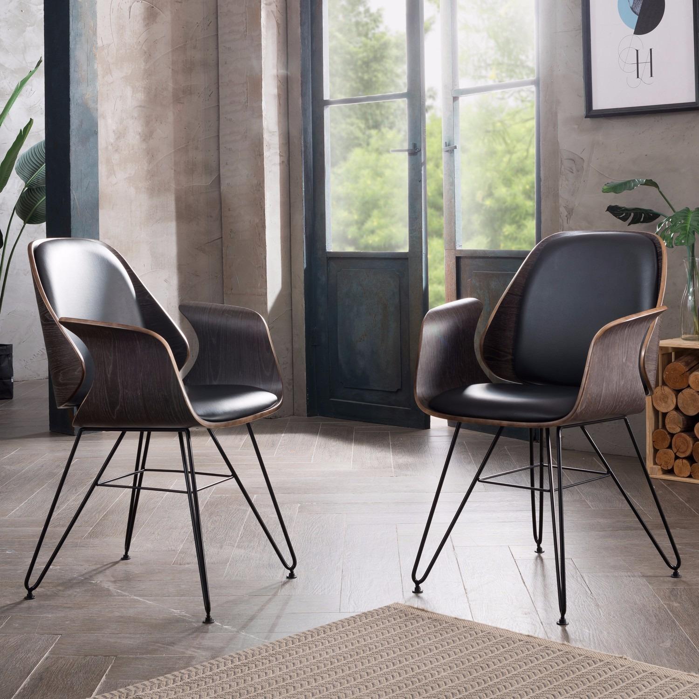 Shop Corvus Marsala Industrial Mid Century Accent Chair