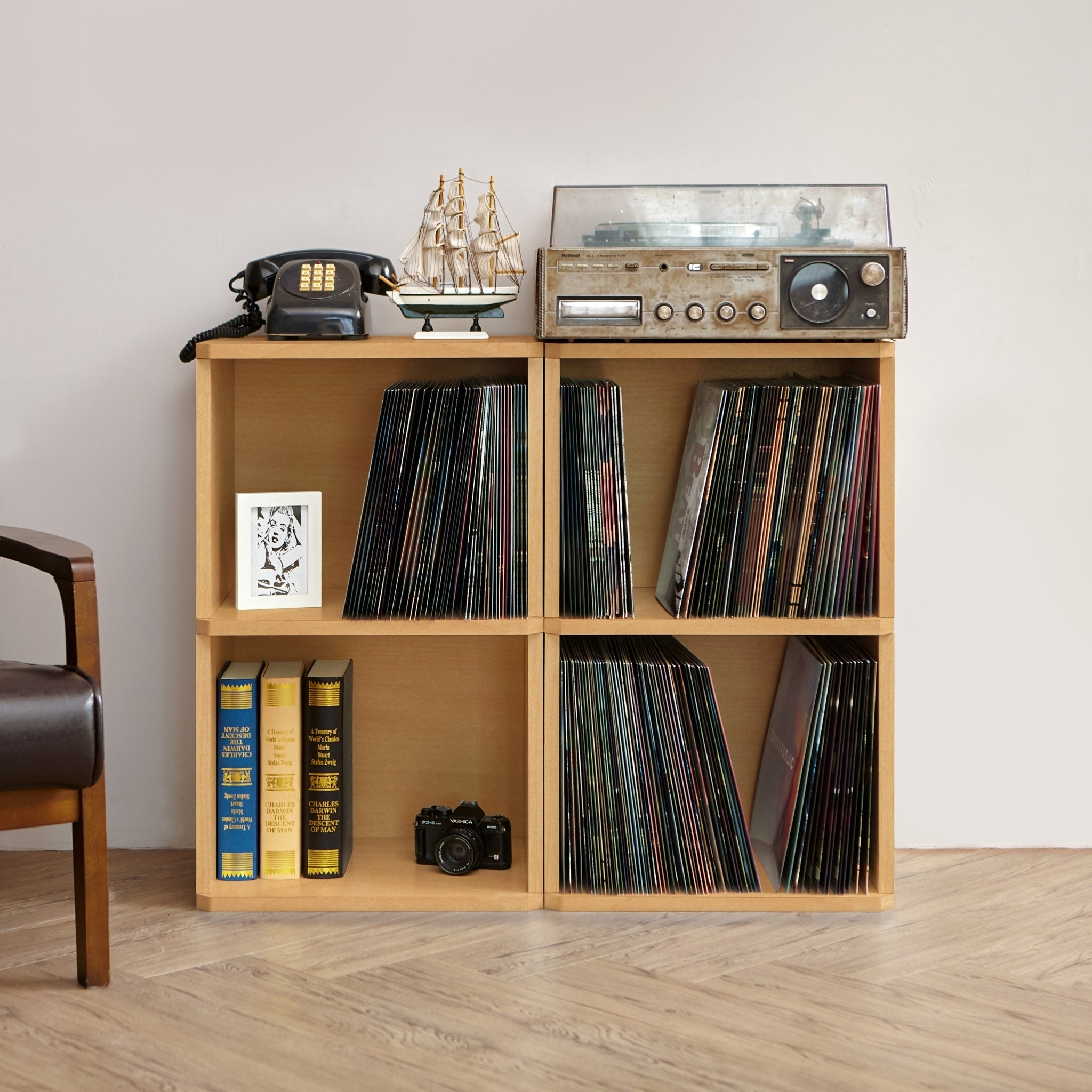 Shop Eco 2 Shelf Vinyl LP Record Album Storage Cube Natural LIFETIME  GUARANTEE   On Sale   Free Shipping Today   Overstock.com   17949499