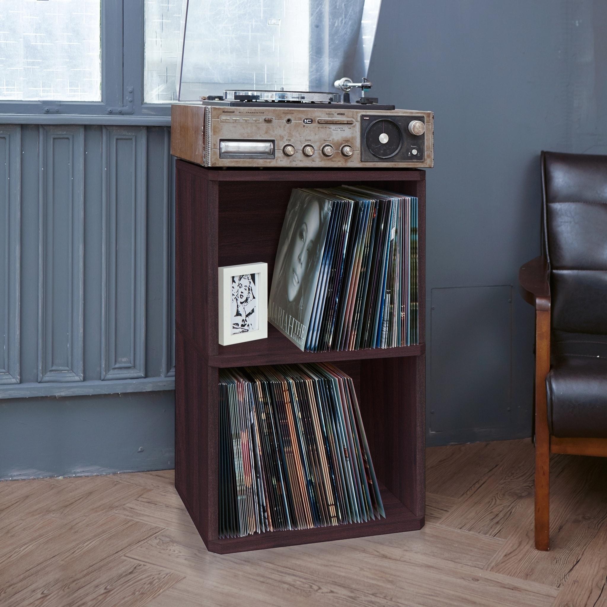 Latest Collection Of Eco 2-shelf Vinyl Lp Record Album Storage Cube Black Lifetime Guarantee Storage & Media Accessories