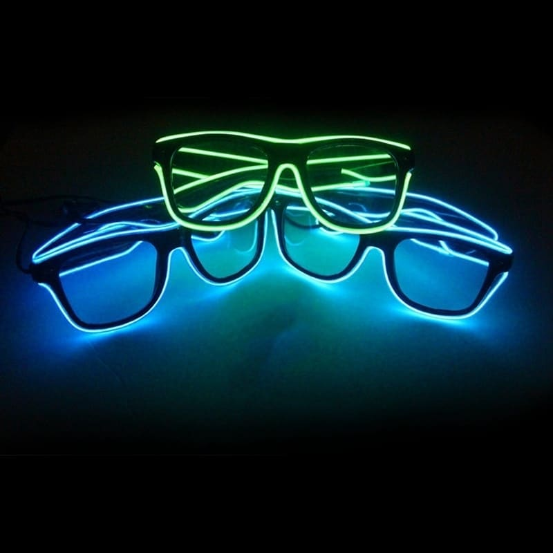 EL Wire Neon LED Light Glow sunglasses for Halloween Costume - Ships ...