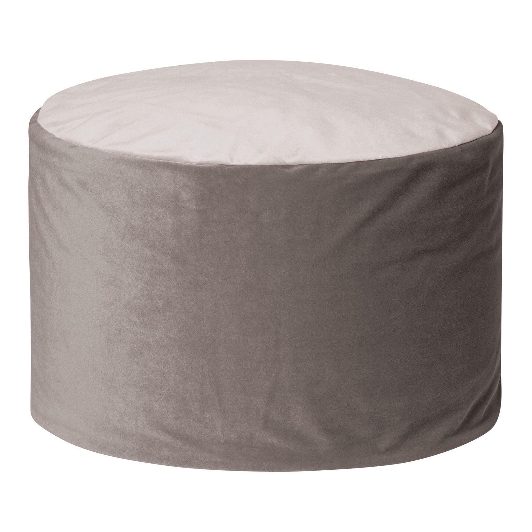 Velvet Bean Bag Pouf Ottoman - Free Shipping Today - Overstock.com ...