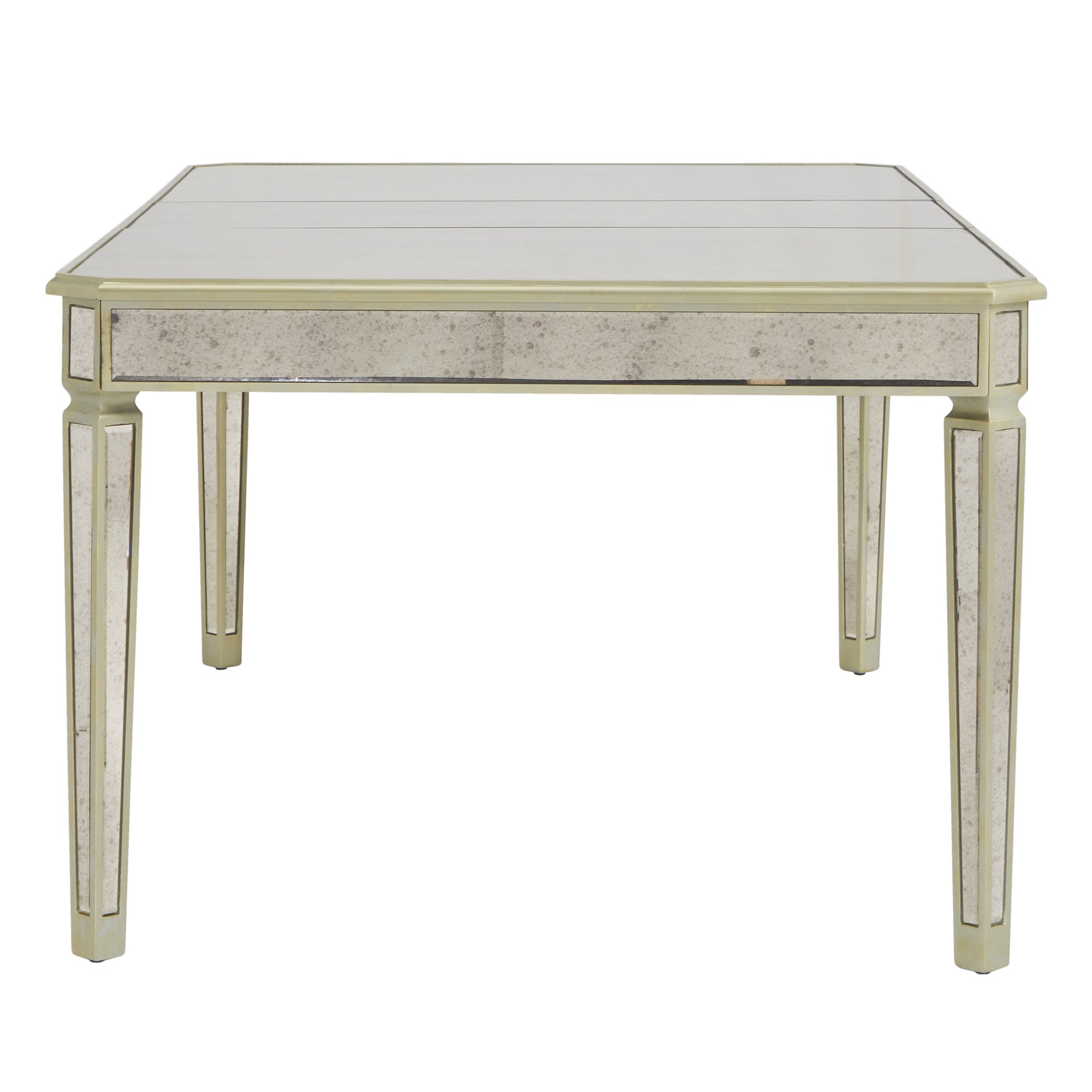 Shop Clara Antique Gold Mirrored Extending Dining Table By INSPIRE Q Bold    Free Shipping Today   Overstock.com   17953109