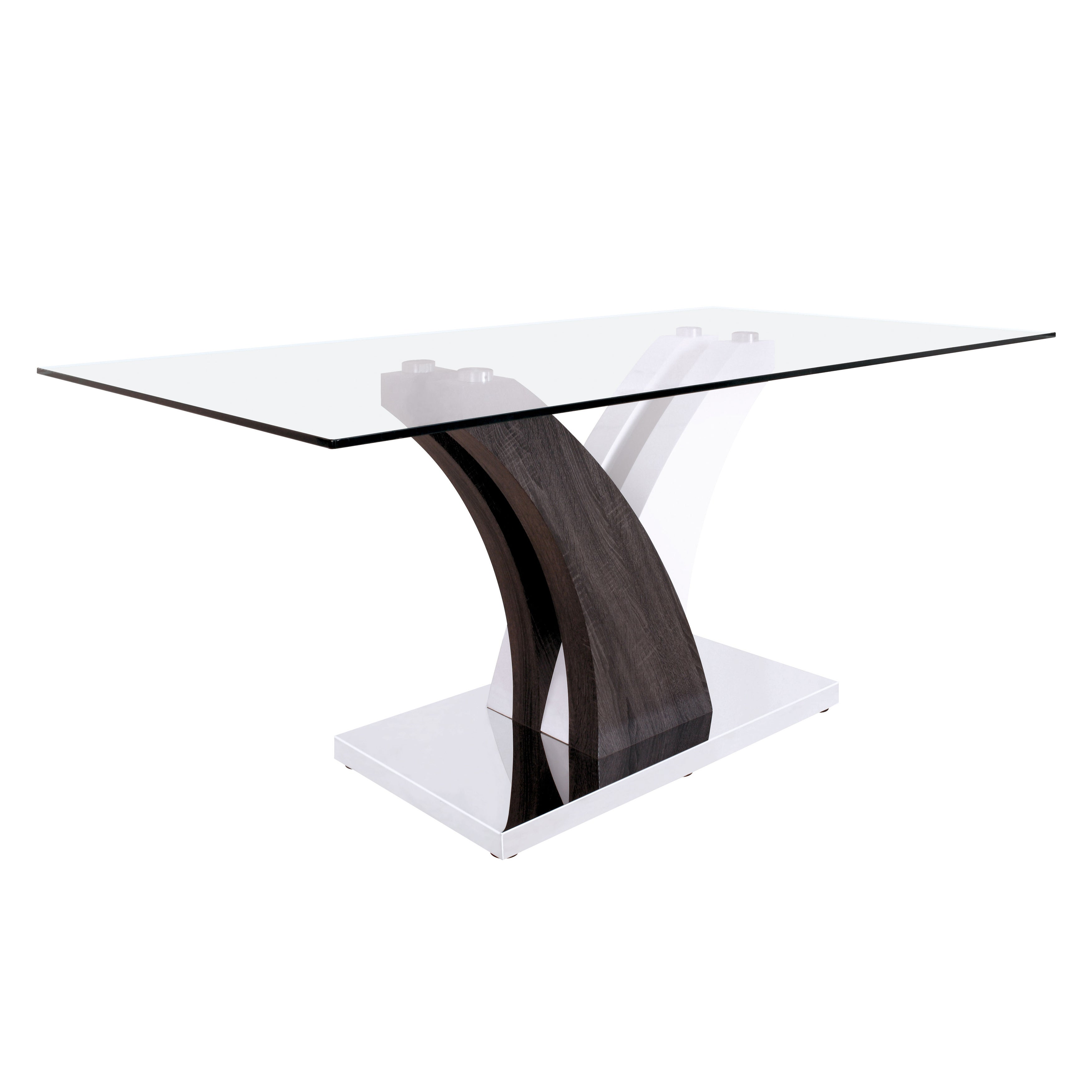 Shop Furniture Of America Halena Modern Two Tone Glass Top White