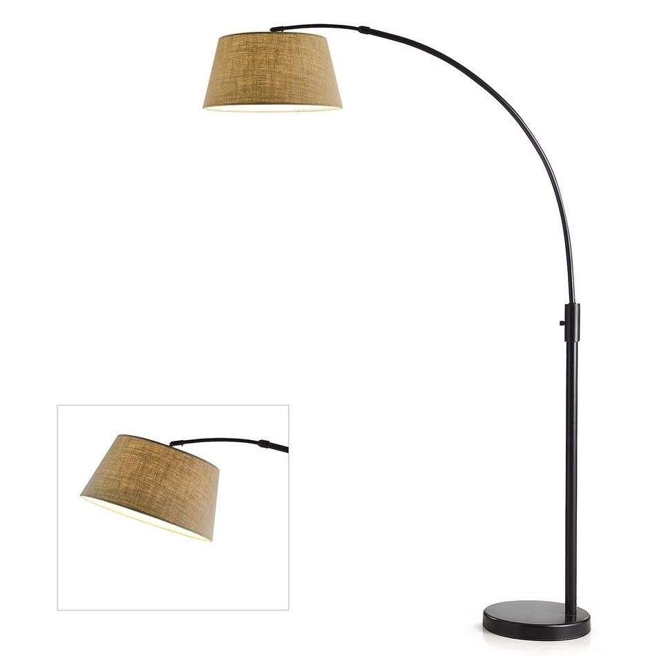 Shop Orbita 82 In Retractable Arch Dimmable Floor Lamp Include With15W LED  Bulb And Empire Shade   On Sale   Free Shipping Today   Overstock.com    17954200