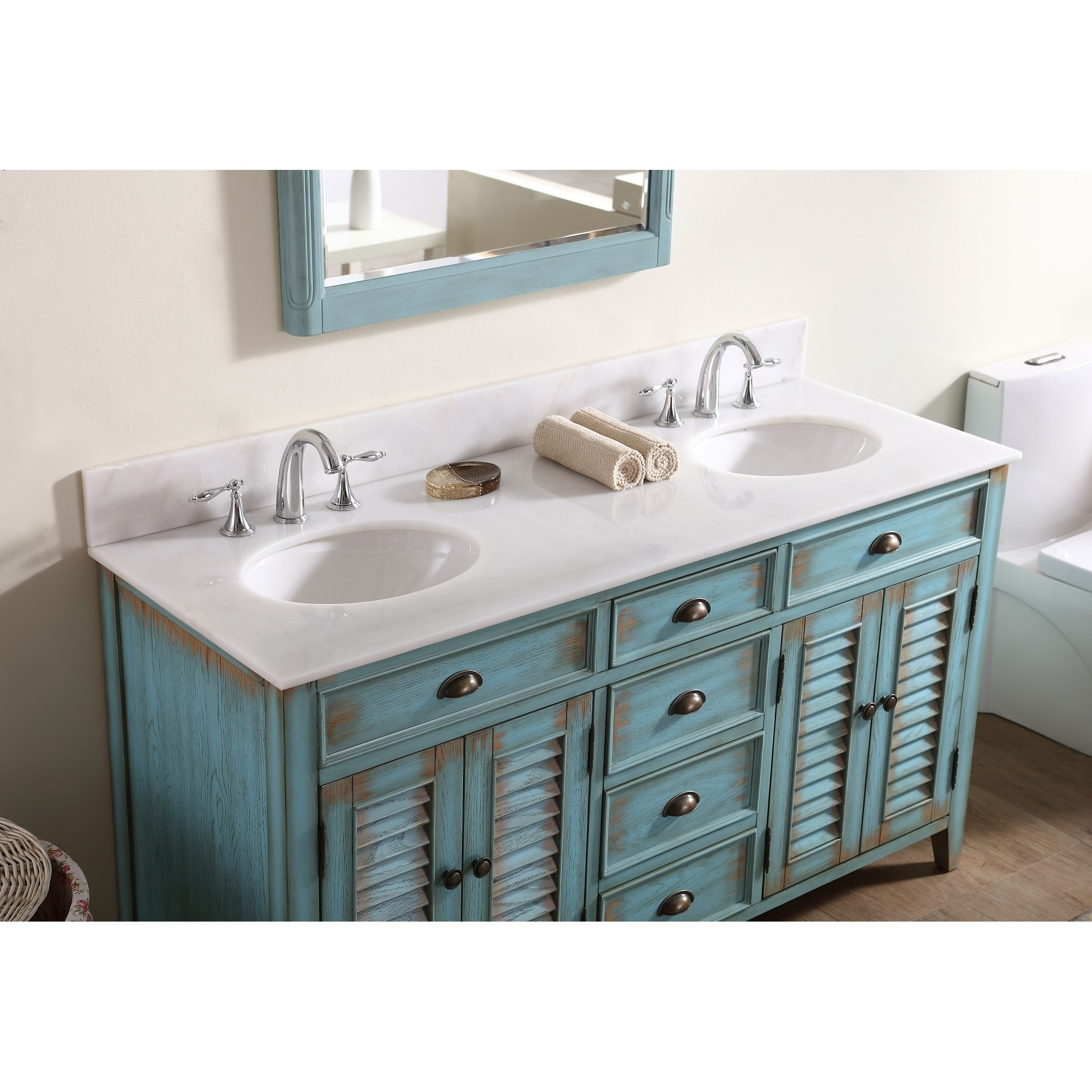 Shop Modetti Palm Beach Inch Double Sink Bathroom Vanity With - Bathroom vanities palm beach