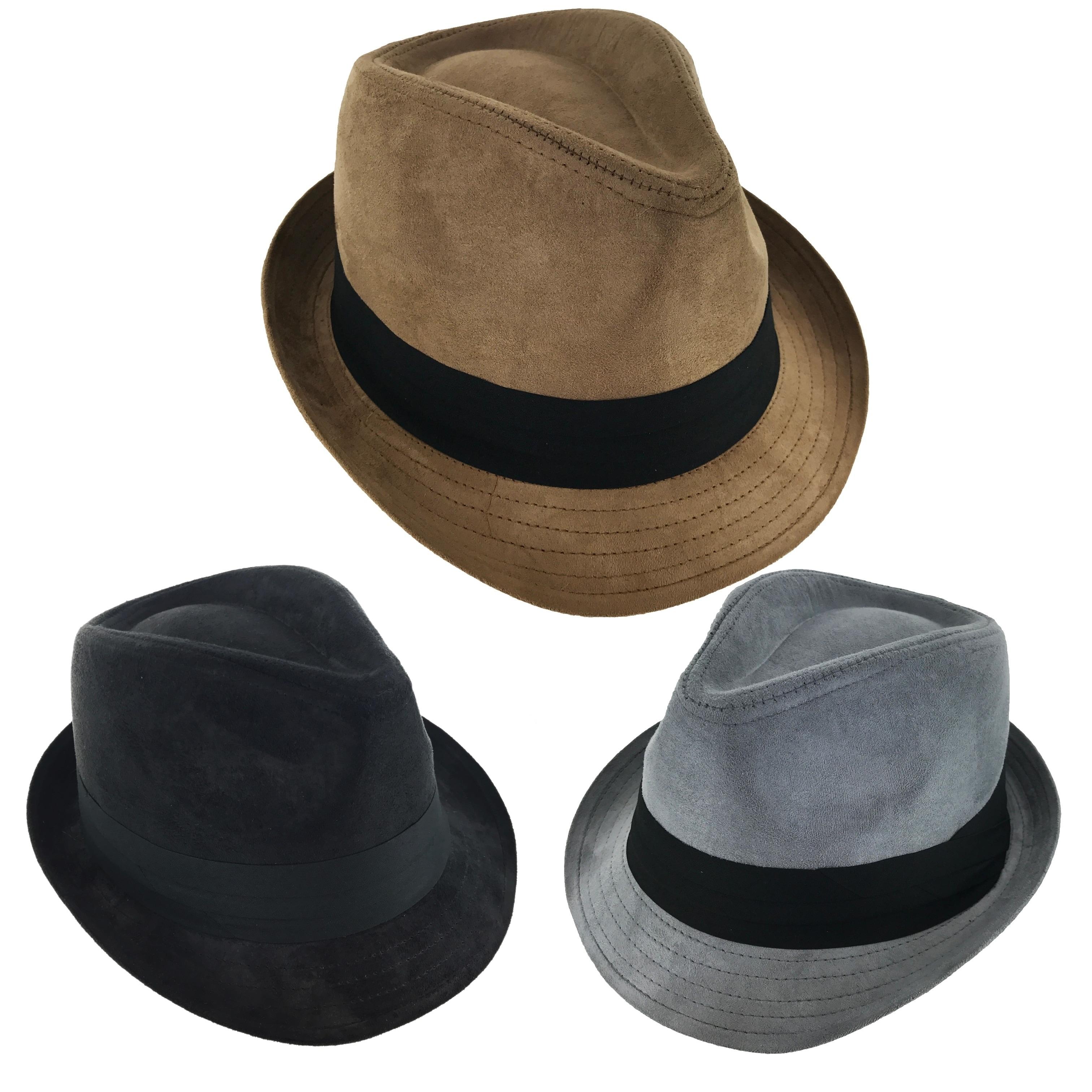 Shop Faddism London Classic 195 Retro Fashion Velvet Fedora Hat ... 2bb3449b132