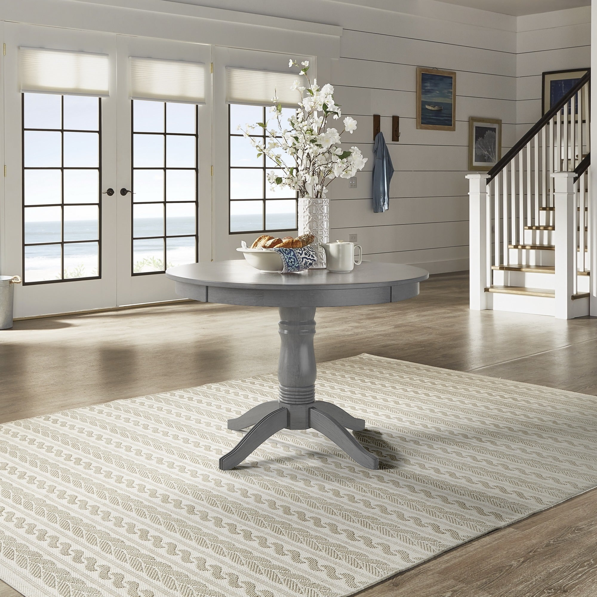 shop wilmington ii round pedestal base dining table by inspire q rh overstock com