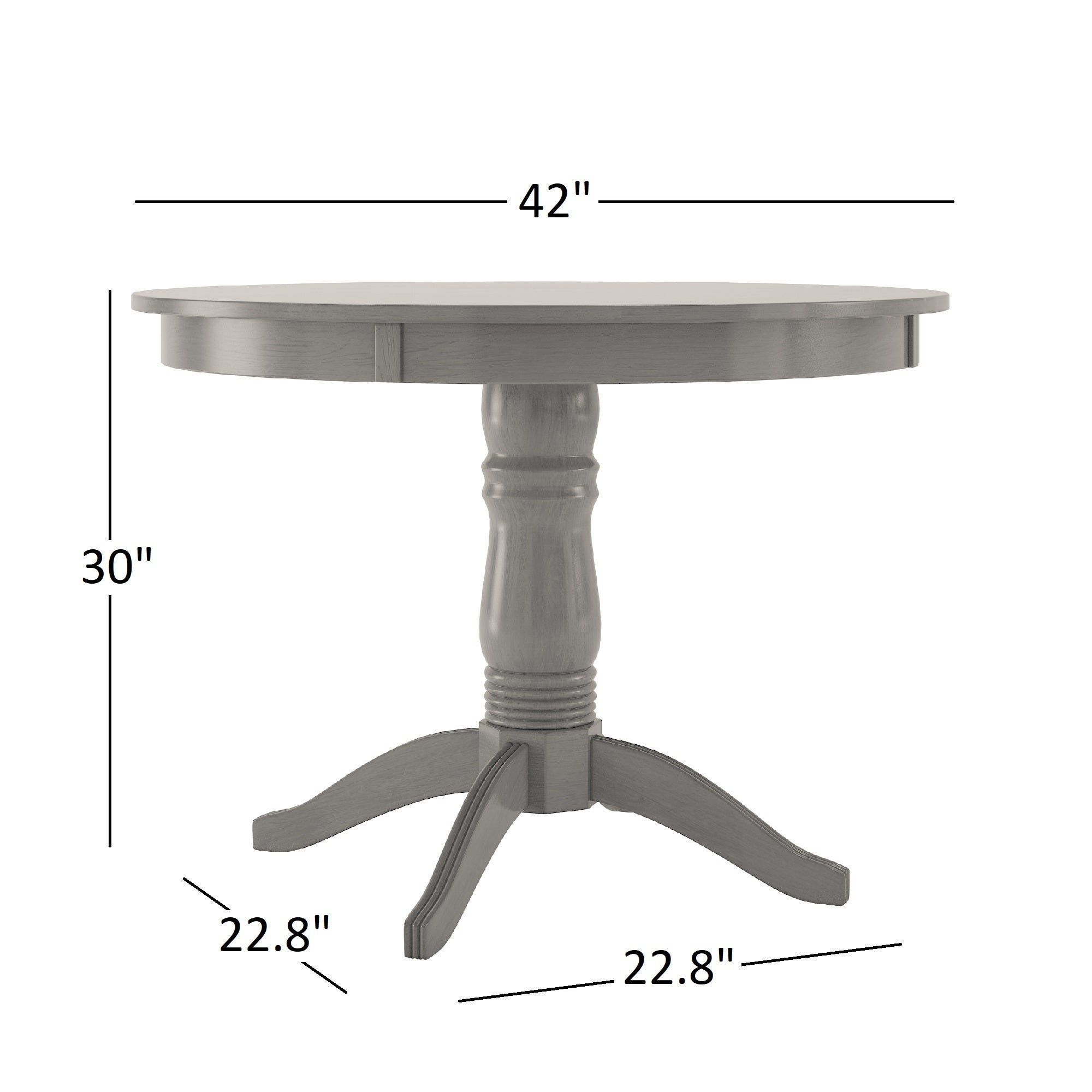 contemporary round pedestal item dining studio drew american park table number inch products