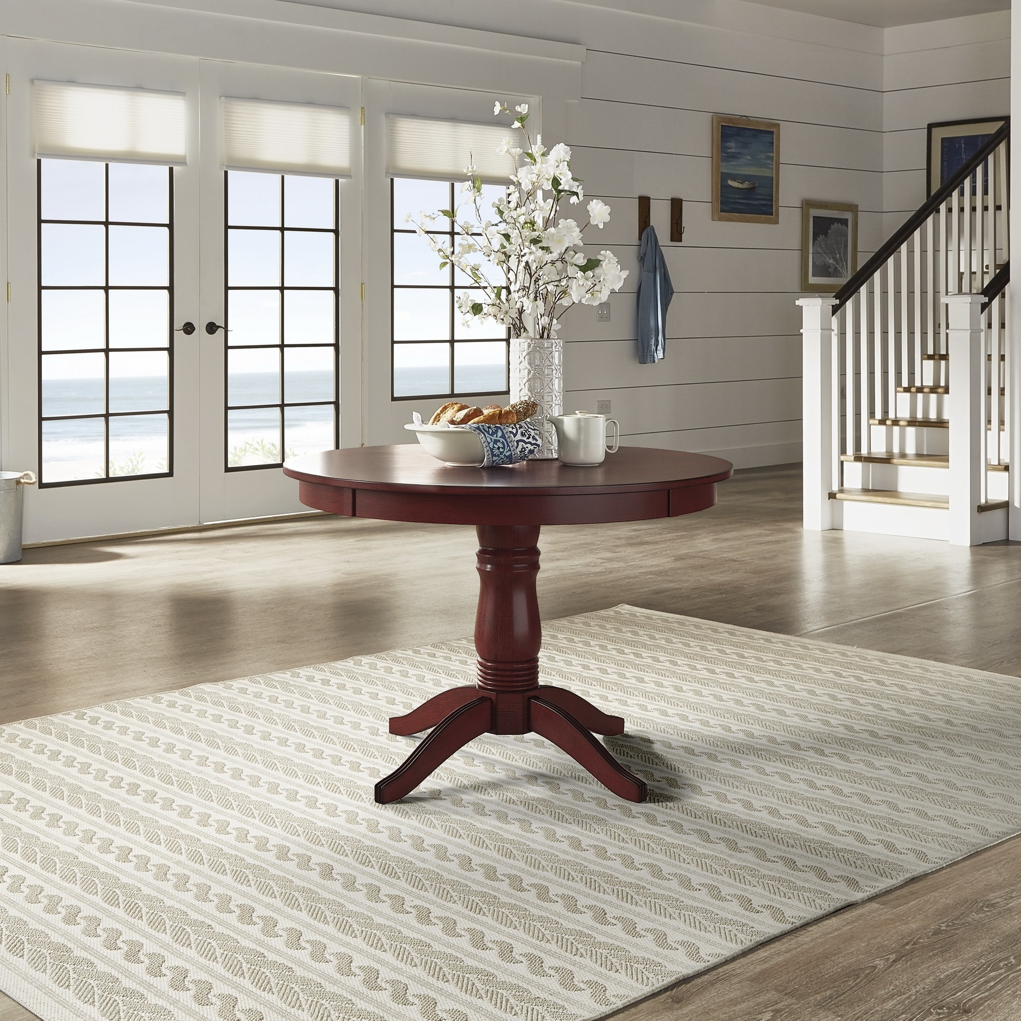 Wilmington II Round Pedestal Base Dining Table by iNSPIRE Q Classic - Free  Shipping Today - Overstock.com - 24135485