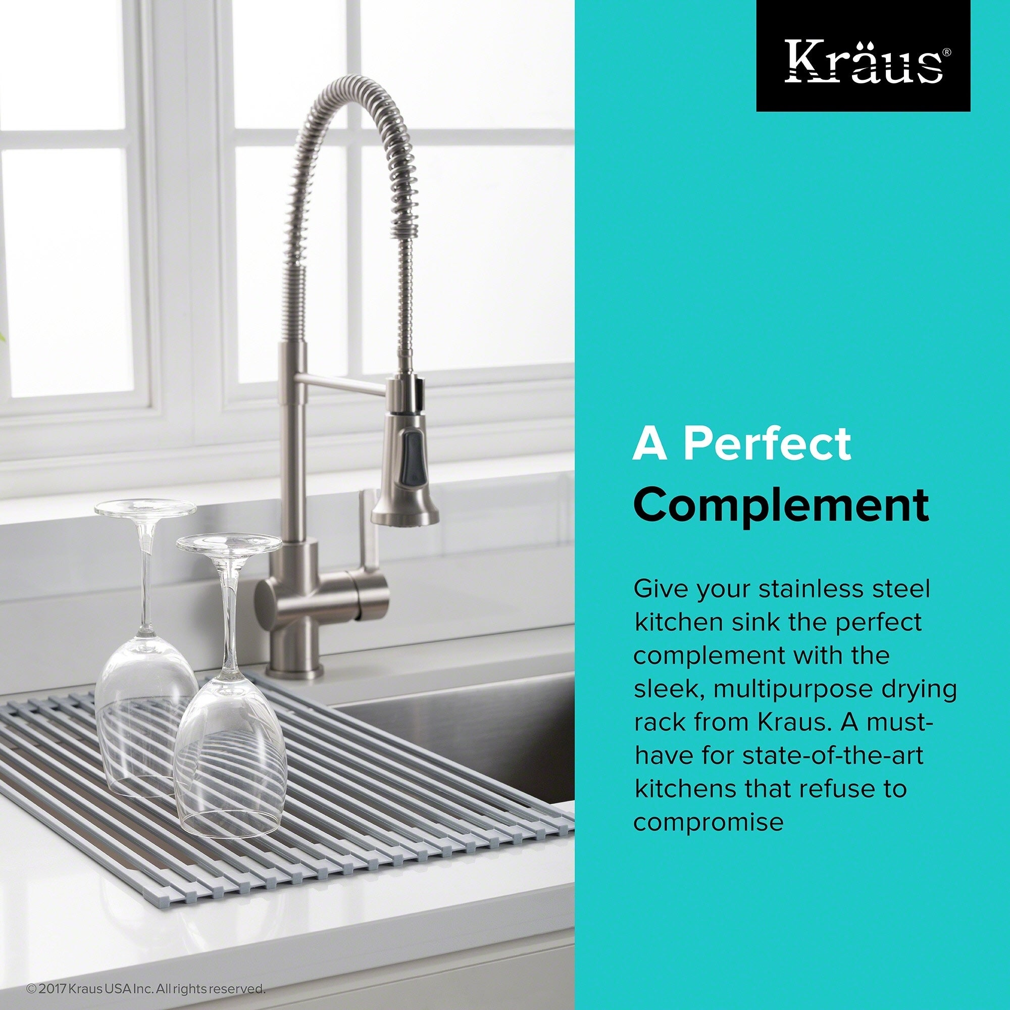 Shop KRAUS Multipurpose Over Sink Roll Up Dish Drying Rack   Free Shipping  On Orders Over $45   Overstock.com   17961105