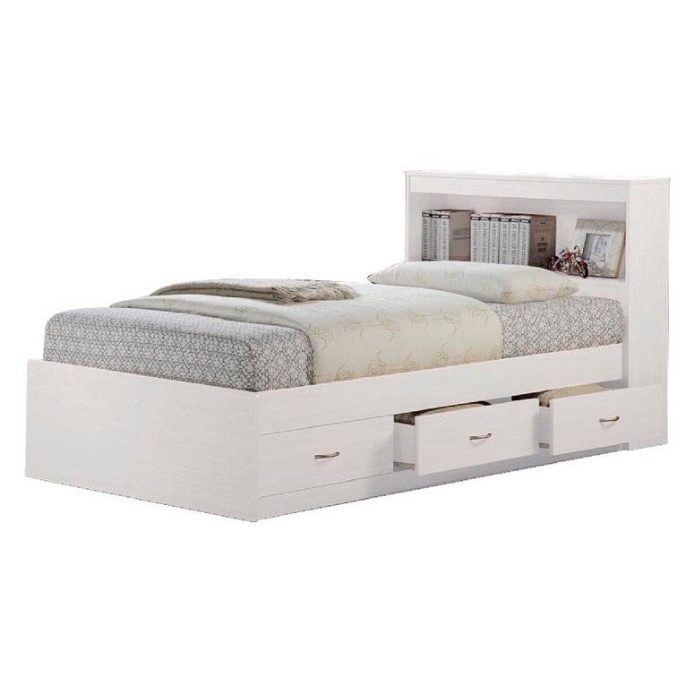 Shop Hodedah Twin Size Captain Bed With 3 Drawers And Headboard   Free  Shipping Today   Overstock.com   17961139