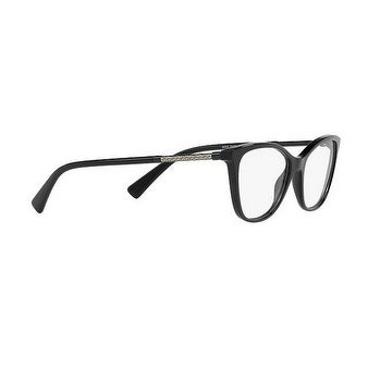 7408dbe5bbe Shop Versace Women s VE3248 GB1 54 Black Cateye Plastic Eyeglasses - Ships  To Canada - Overstock - 17962078