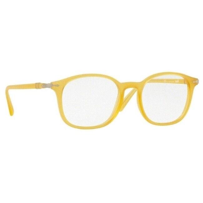 45253e7da6c7 Shop Persol Men's PO3182V 1048 51 Matte Yellow Rectangle Plastic Eyeglasses  - Free Shipping Today - Overstock - 17962284